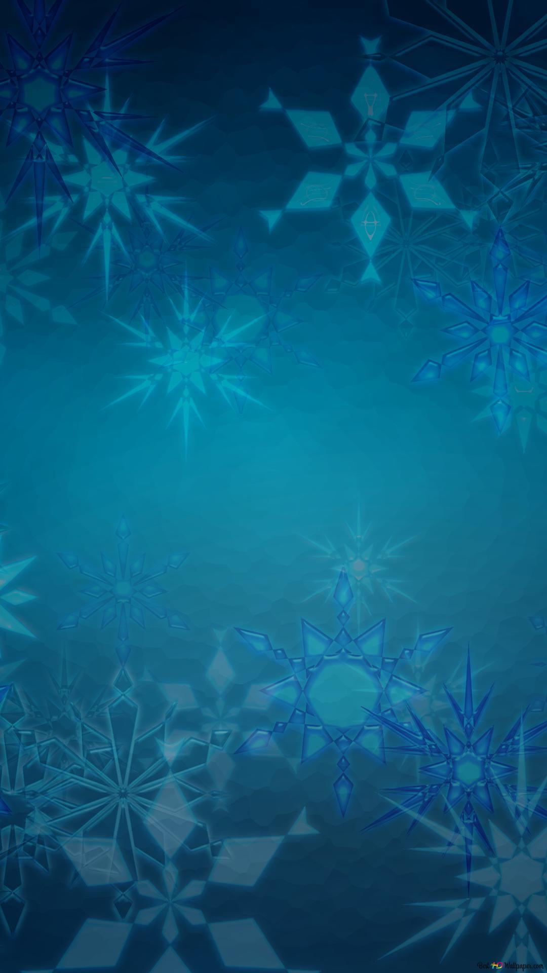 Fiocco Di Neve Sfondo Blu Download Di Sfondi Hd