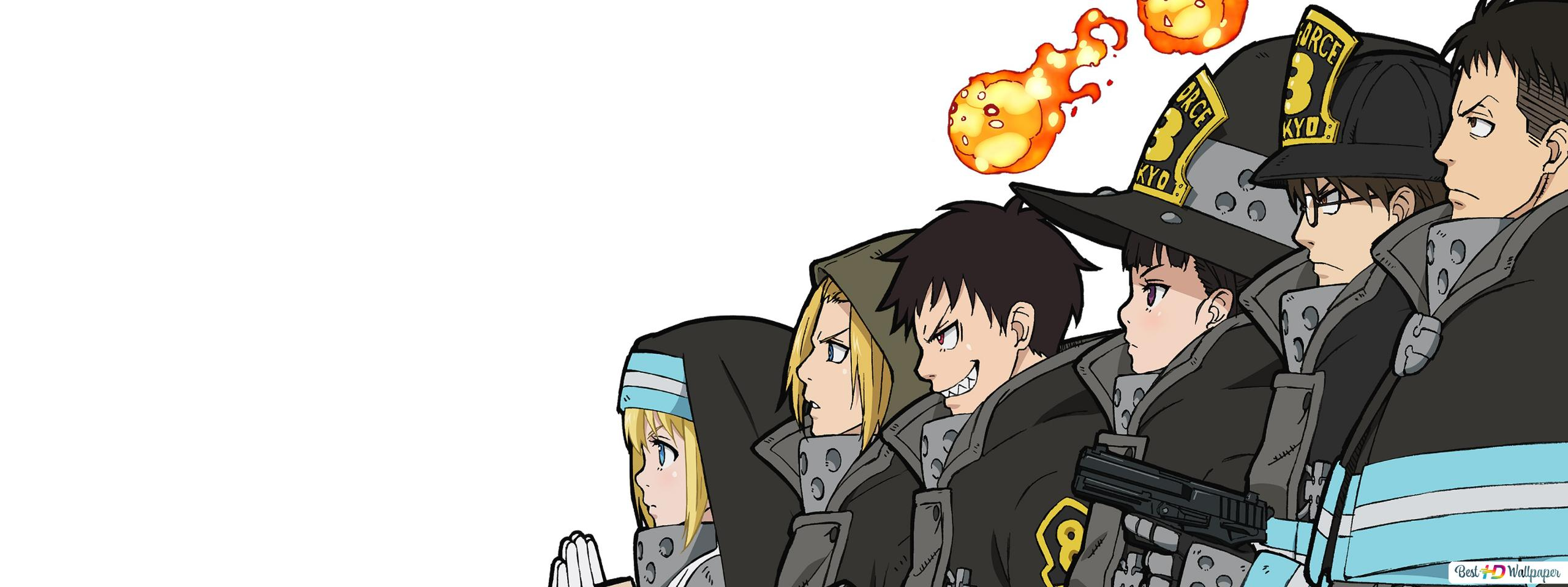 Fire Force Shinra Kusakabe Takehisa Hinawa Maki Oze Iris Arthur Boyle Akitaru Oubi Hd Wallpaper Download