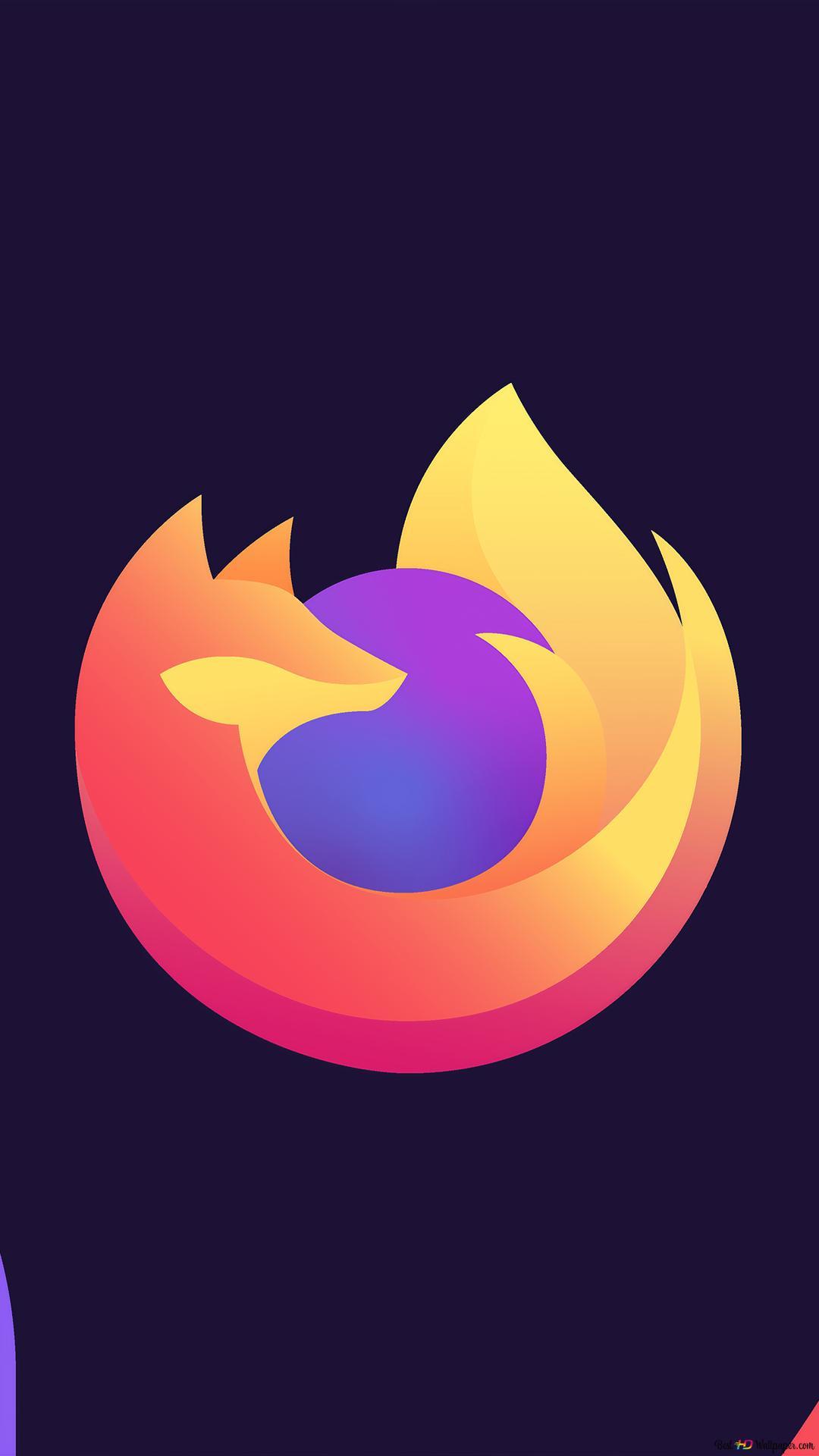Firefox Minimalist Logo Hd Wallpaper Download