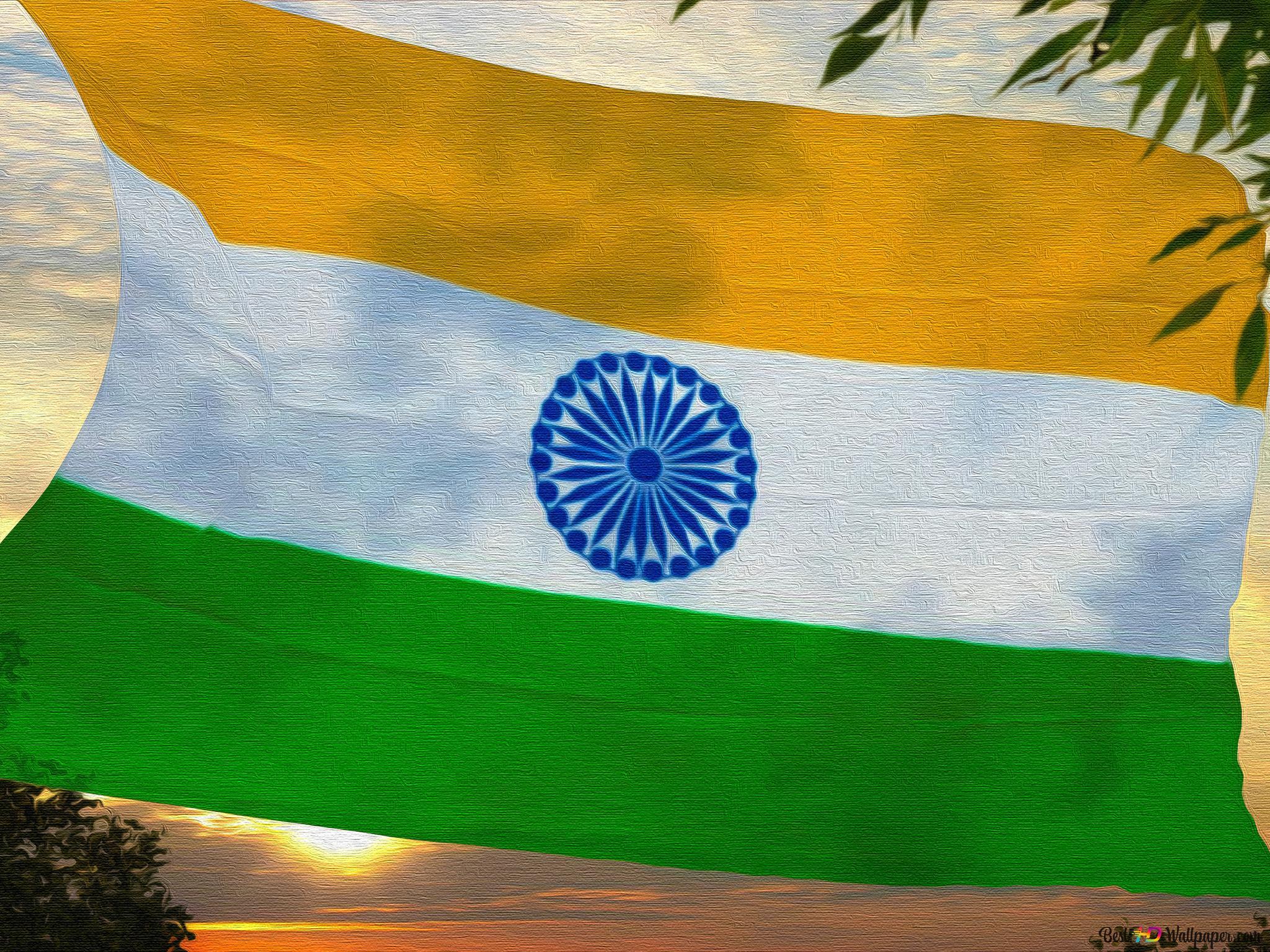 Flag Of India Canvas Hd Wallpaper Download