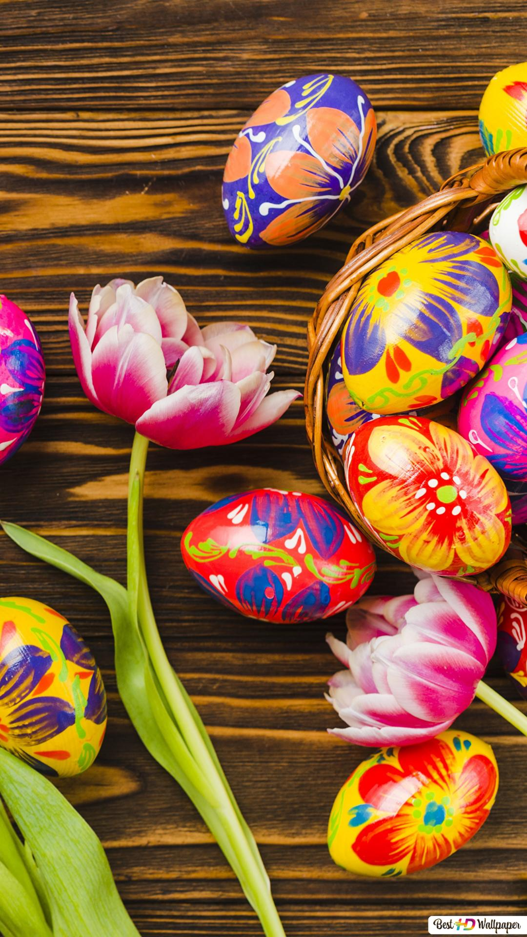 Floral Easter Eggs Hd Wallpaper Download