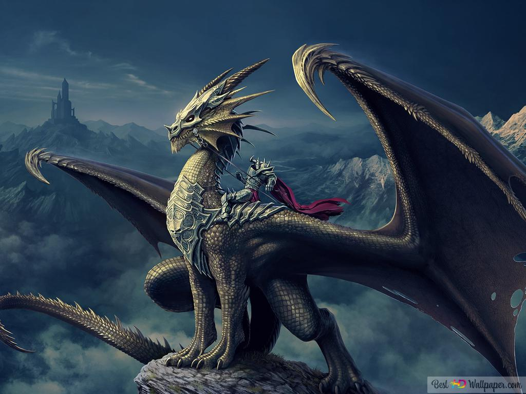 Fly black dragon HD wallpaper download