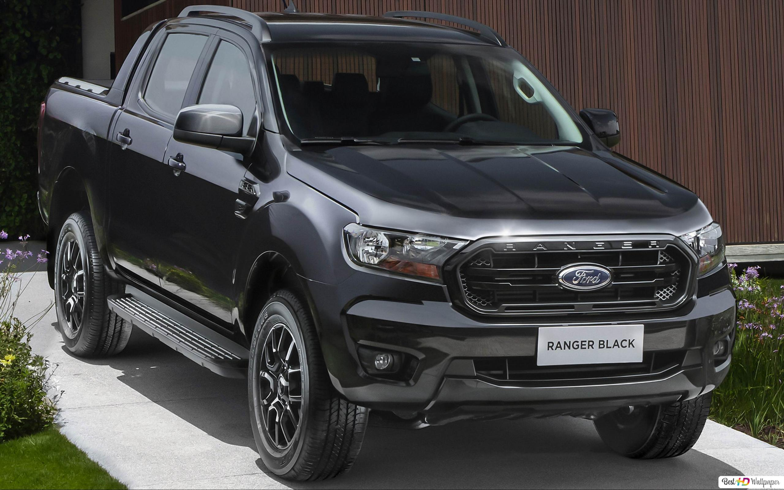 Ford Ranger Black Double Cab 2021 01 Hd Wallpaper Download