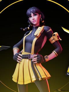 Fortnite Girl Characters Hd Wallpaper Download