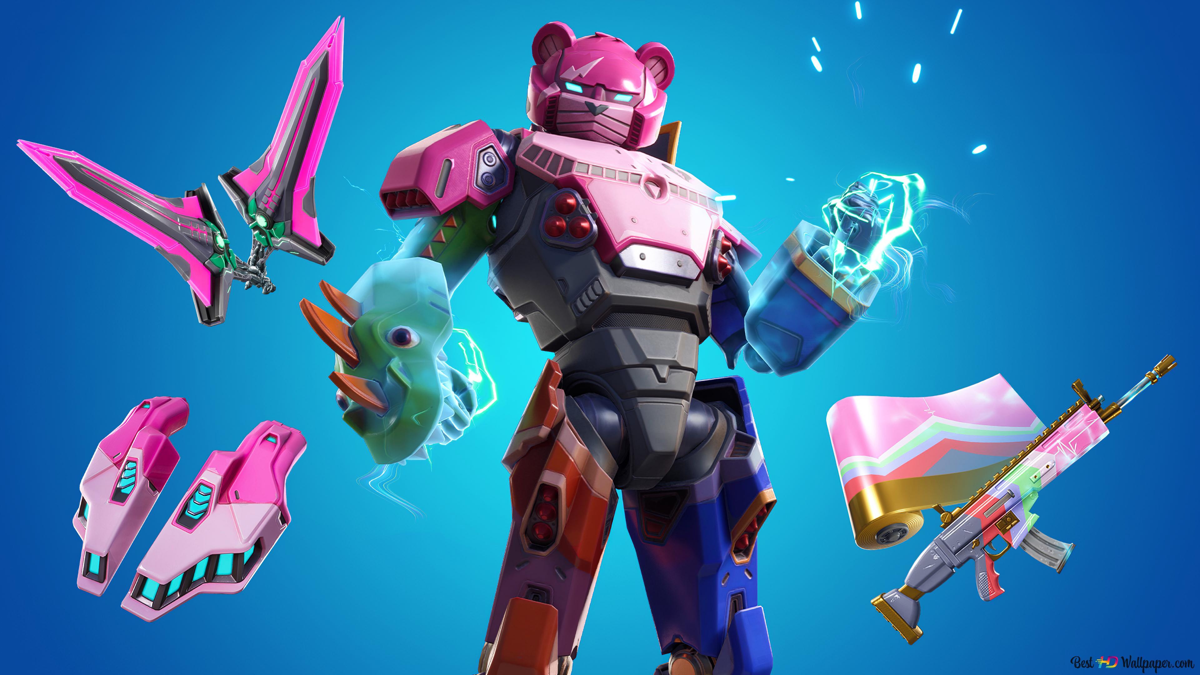Fortnite Robot Bear Hd Wallpaper Download