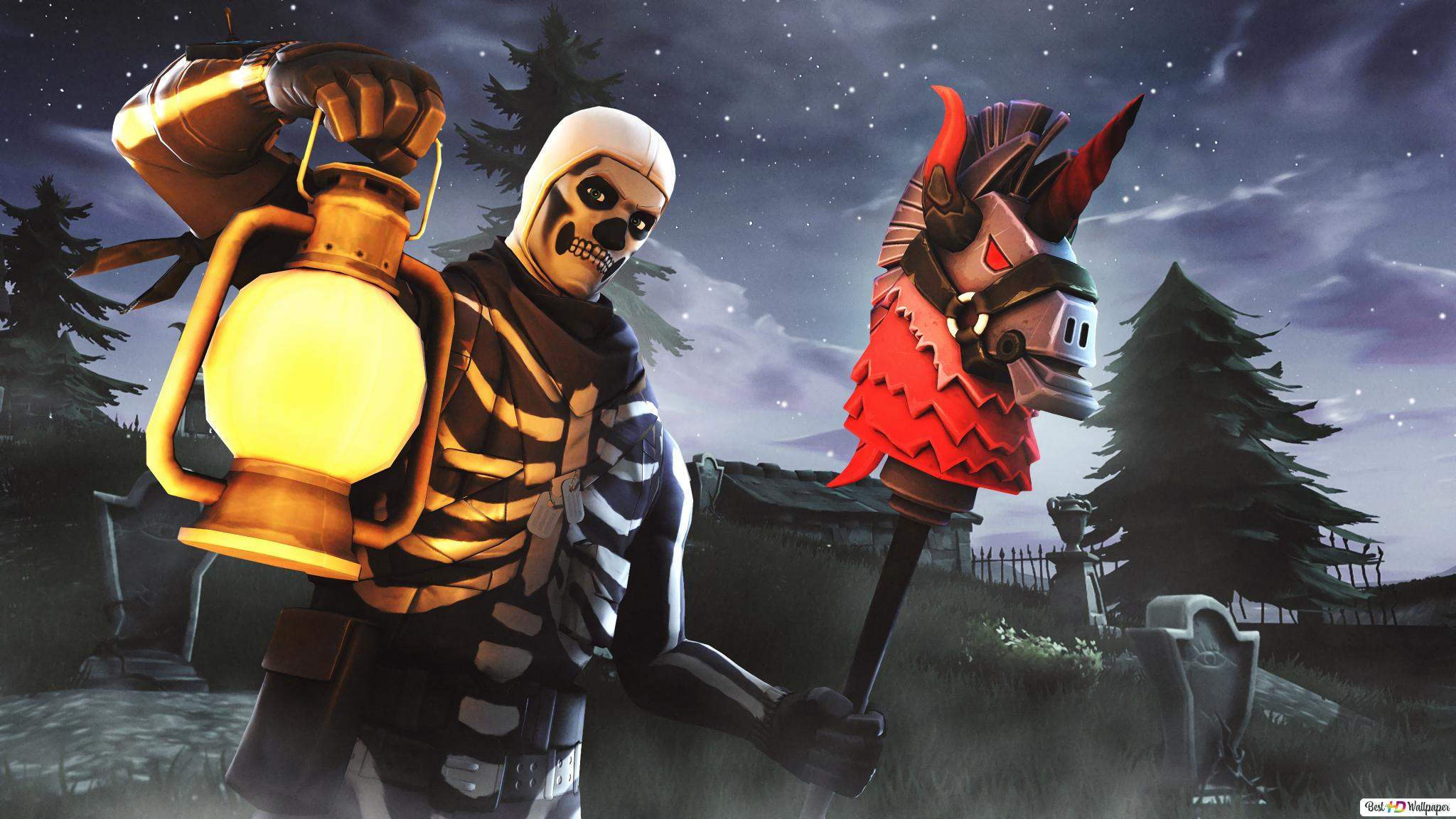 Fortnite Skull Trooper Hd Wallpaper Download