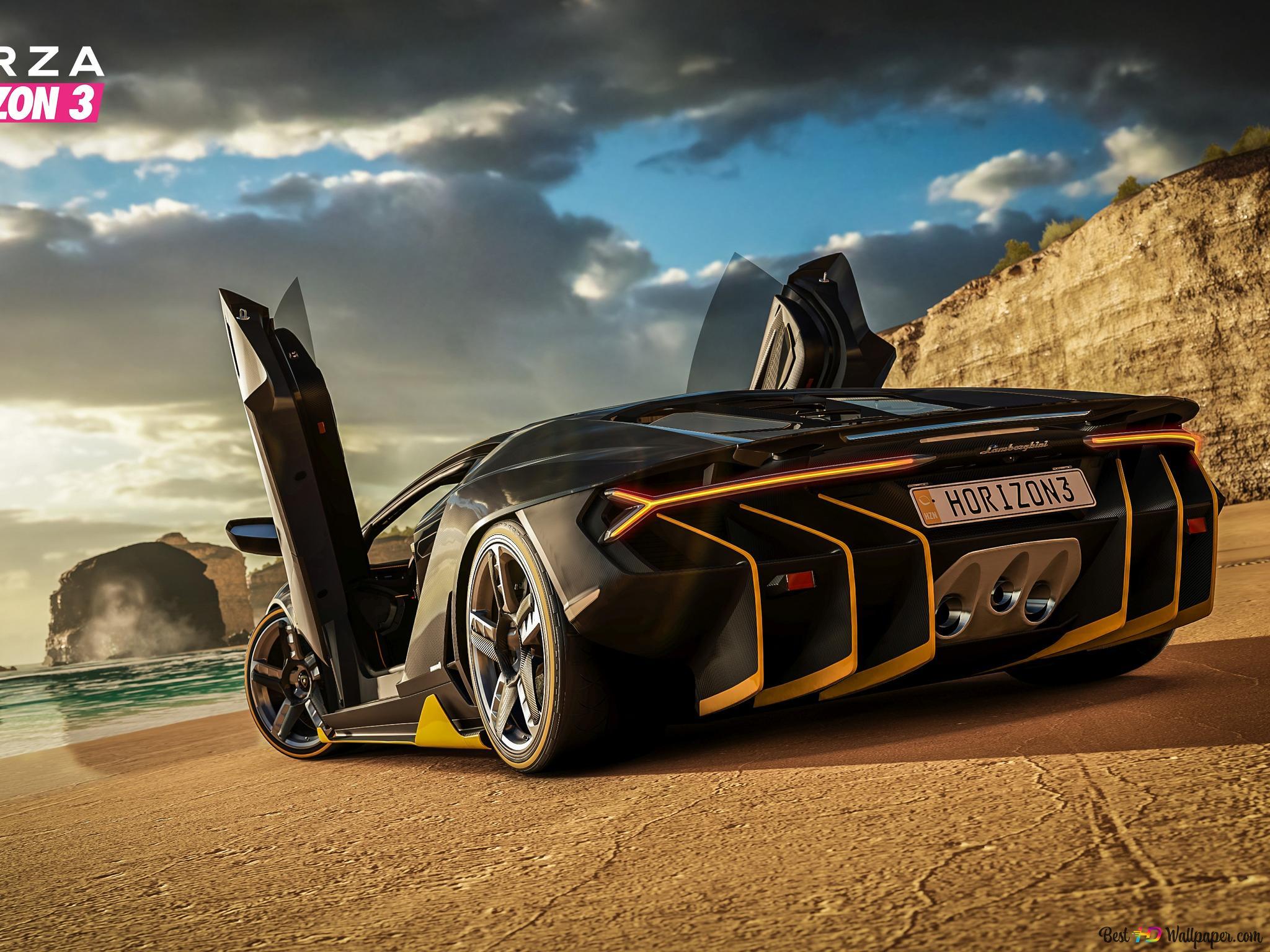 Forza Horizon 3 Game Lamborghini Racing Car Hd Wallpaper Download