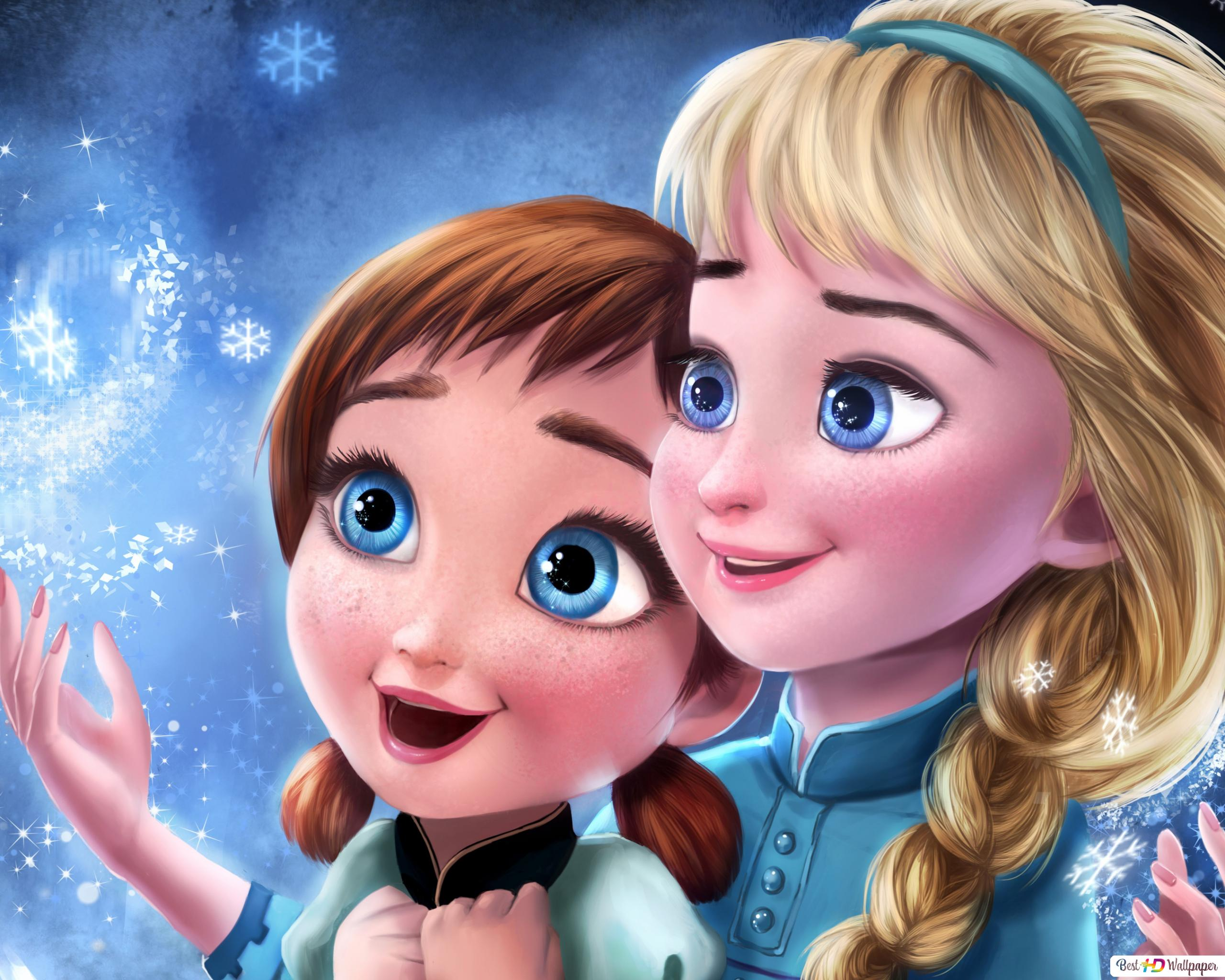 Frozen Elsa And Anna Hd Wallpaper Download
