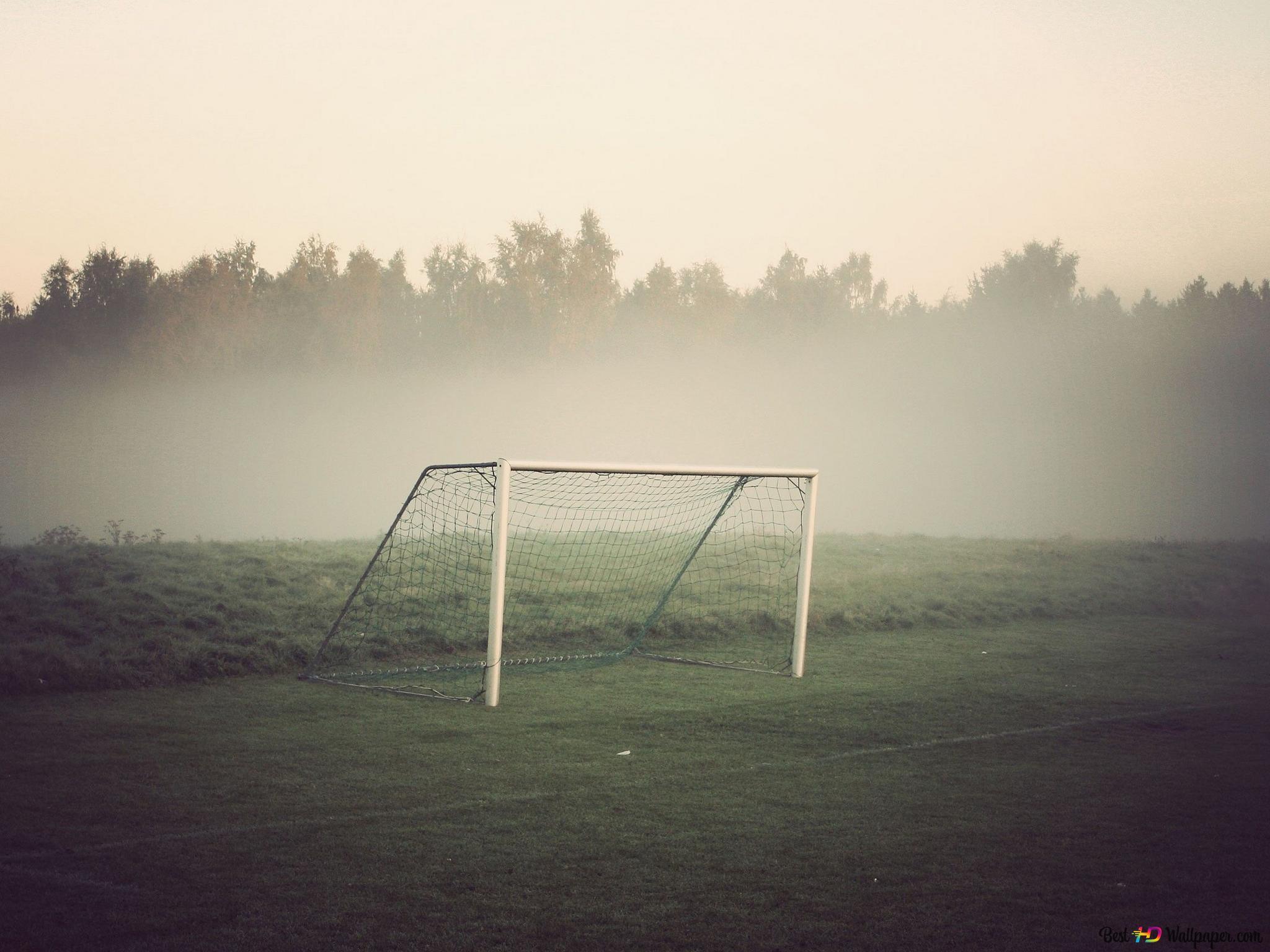 Fussball Netz Im Boden Hd Hintergrundbilder Herunterladen