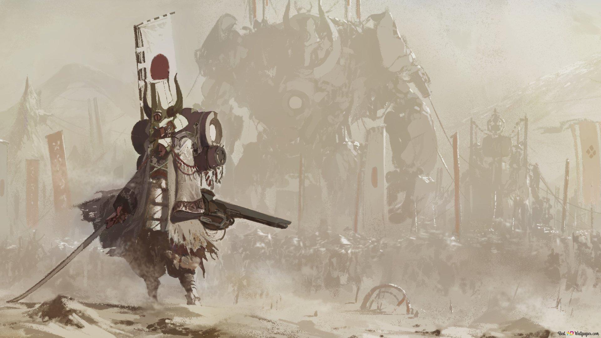 Future Samurai Hd Wallpaper Download