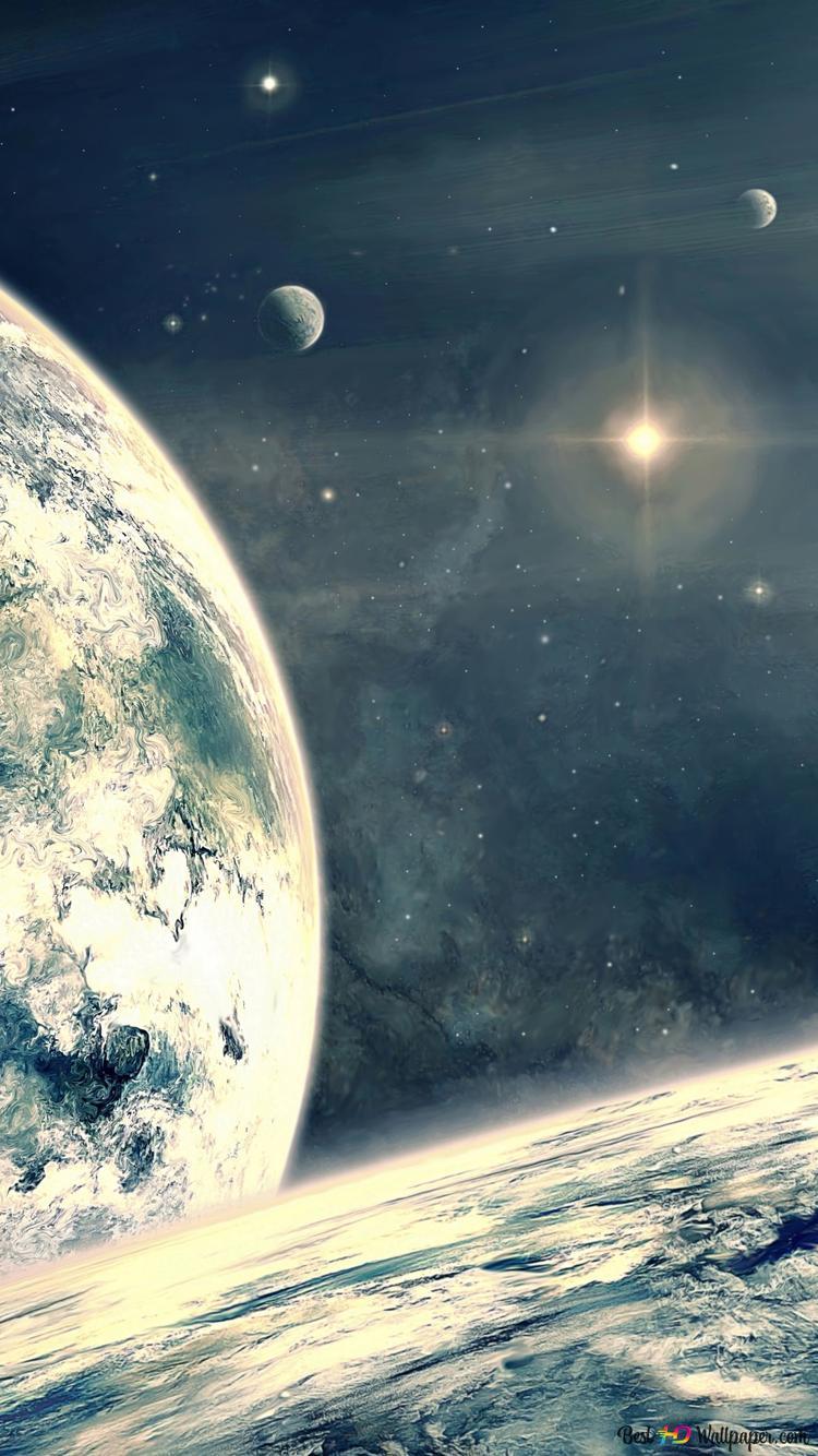 Galaxy Inverno Pianeta Terra Download Di Sfondi Hd