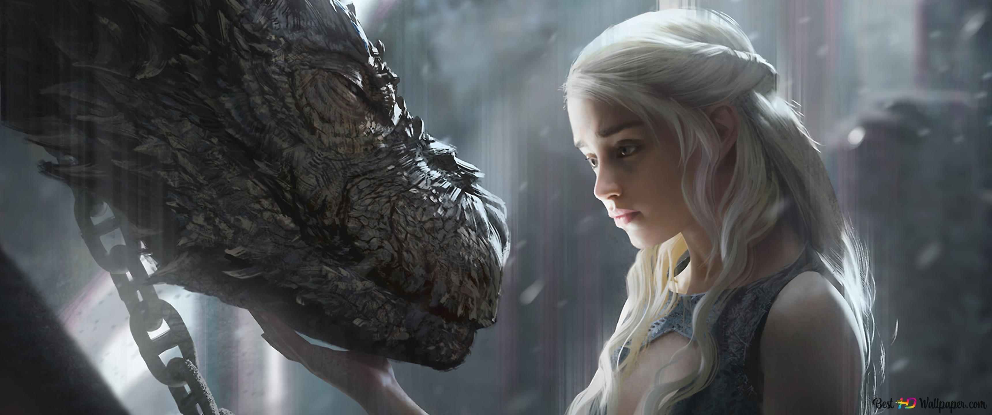 Game Of Thrones Daenerys Targaryen Drachen Hd