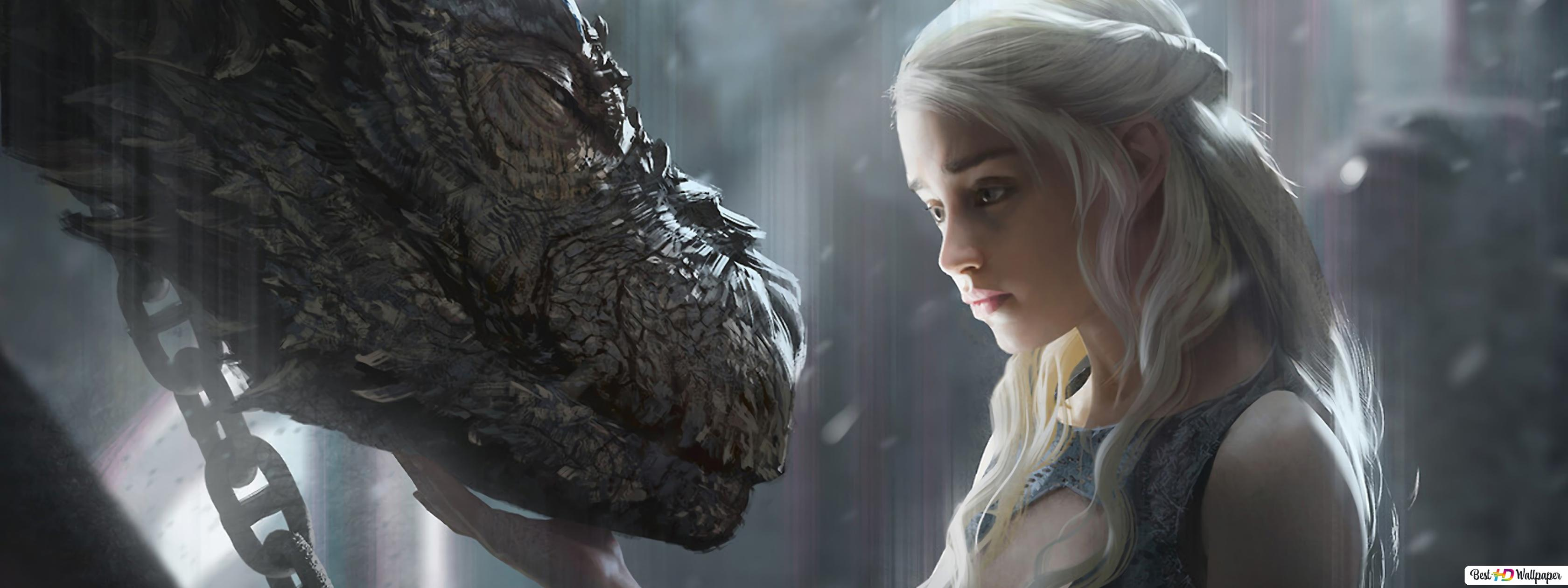 Game Of Thrones Daenerys Targaryen Dragon Hd Wallpaper Download
