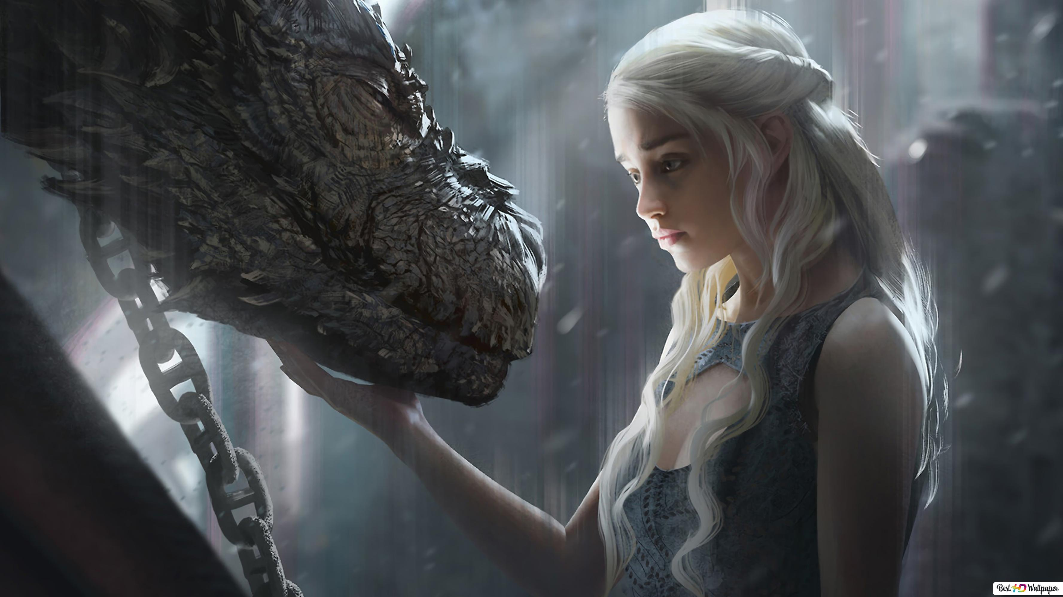 Game Of Thrones Daenerys Targaryen Dragon Hd Wallpaper Download