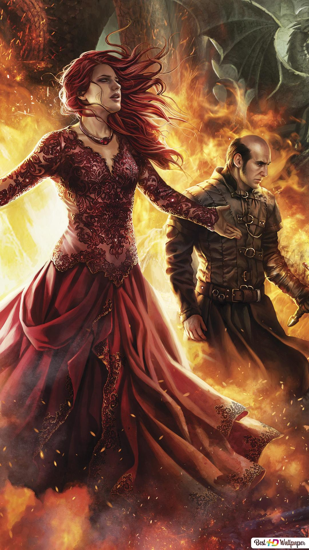 Game Of Thrones Melisandre I Stannis Hd Tapety Do Pobrania
