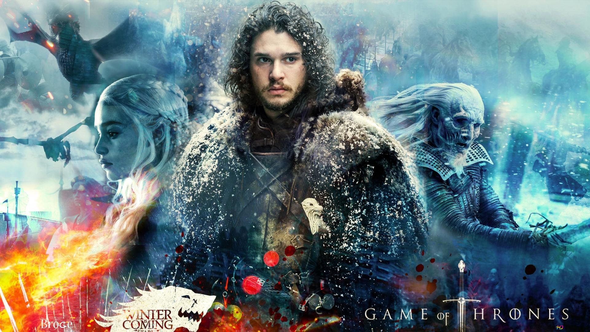 Game Of Thrones Serie Jon Snow Hd Hintergrundbilder