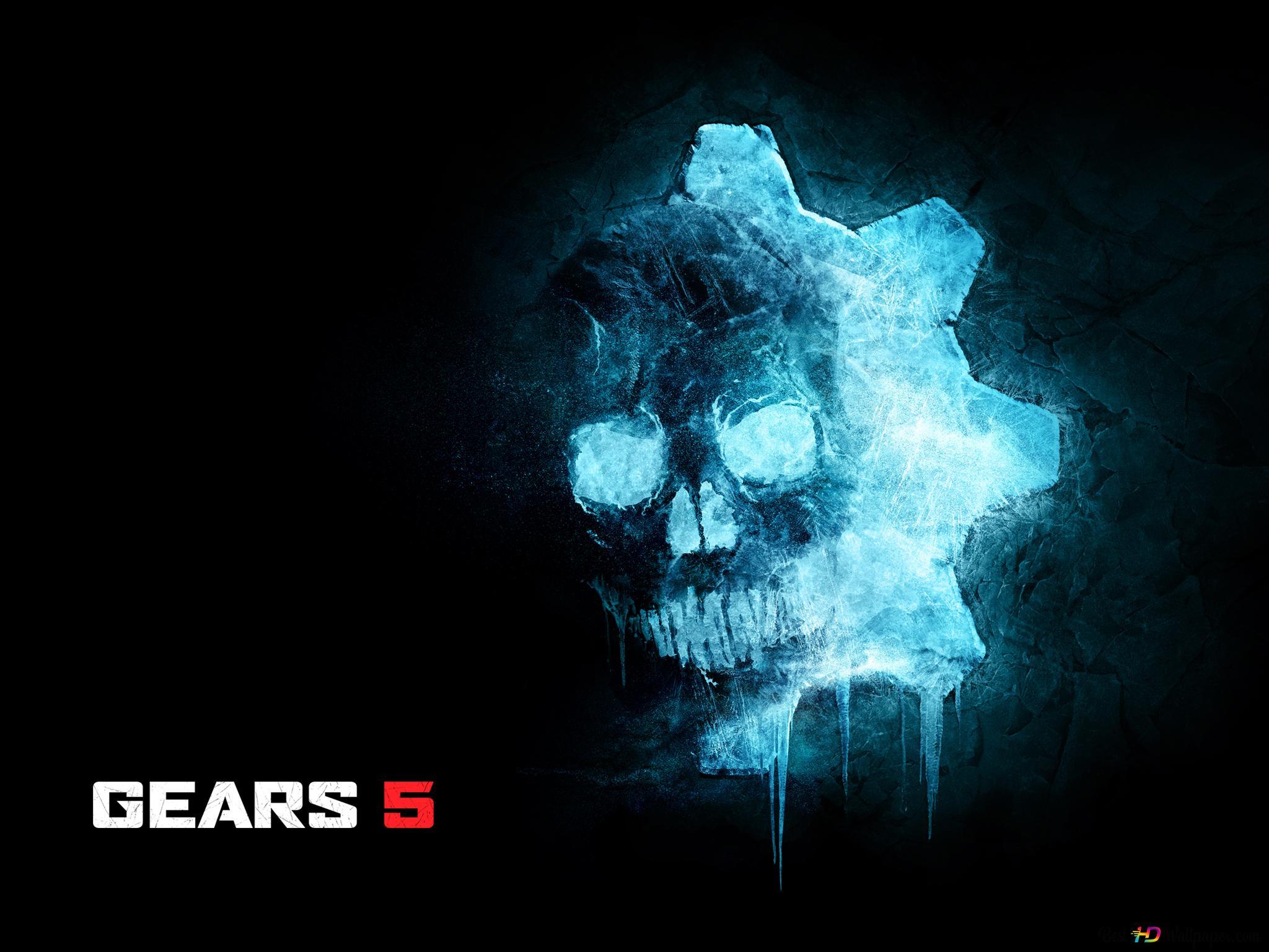 Gears Of War 5 Ice Omen Logo Hd Wallpaper Download