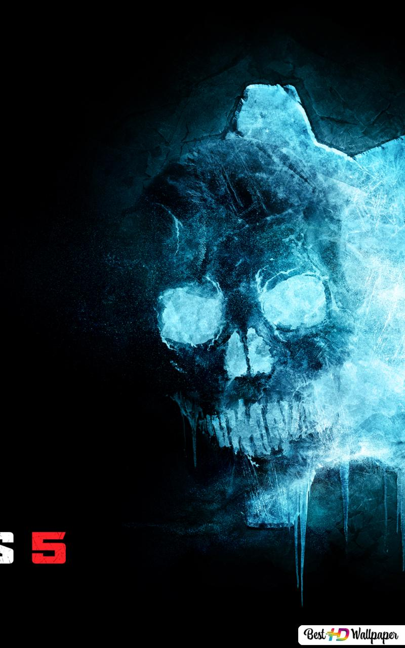 gears of war 5 ice omen logo wallpaper 800x1280 15480 198