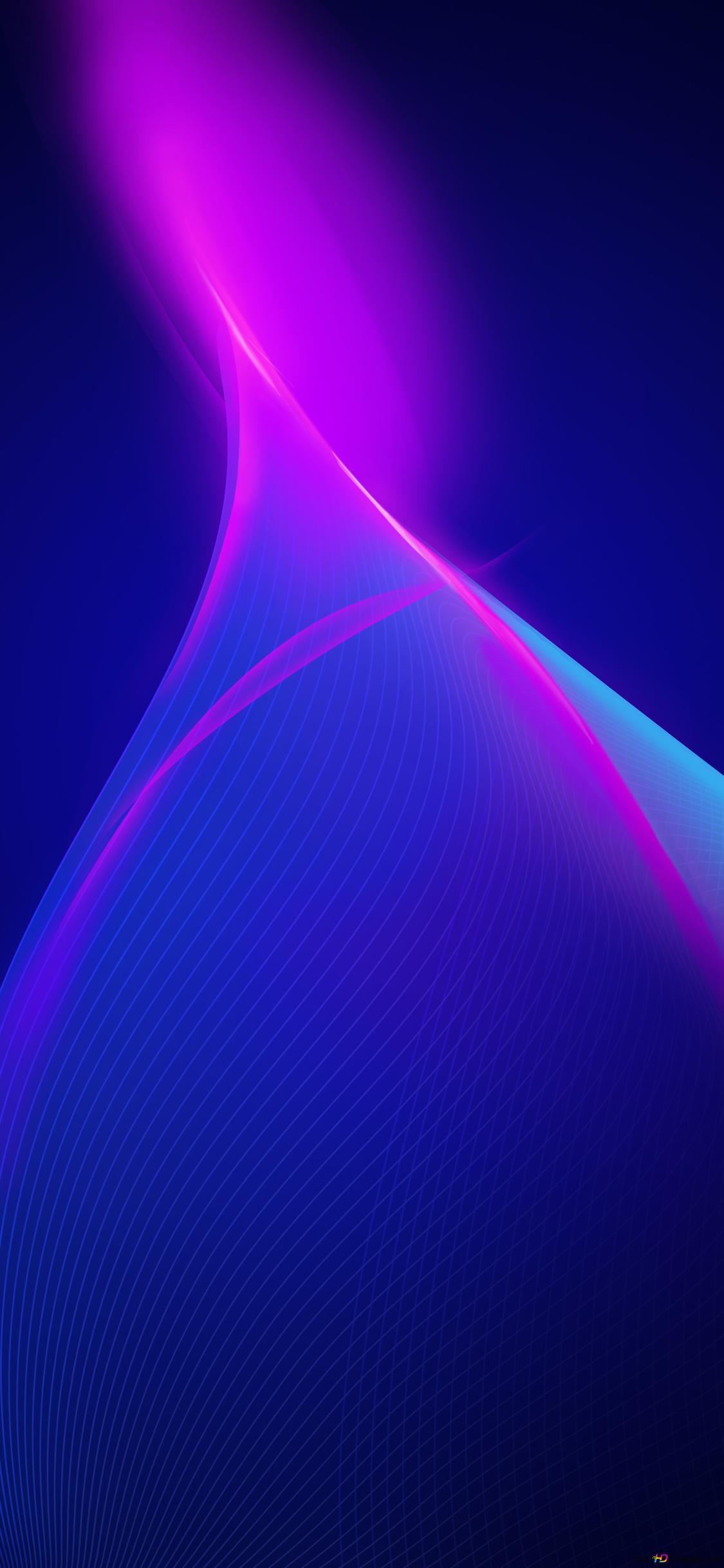 gelombang biru gelap wallpaper 1125x2436 17208 215