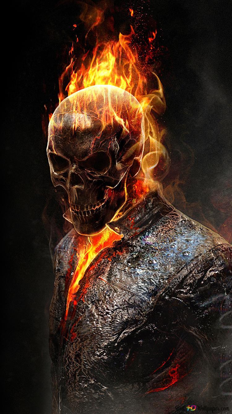 Ghost Rider Movie Fire Skull Hd Wallpaper Download