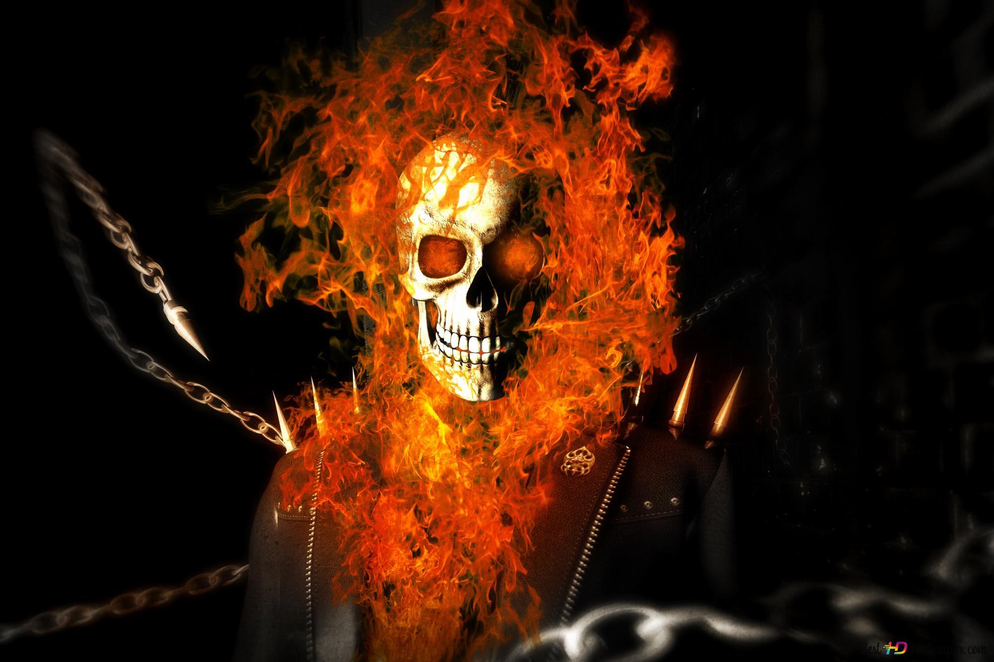 огненные картинки скелет отец