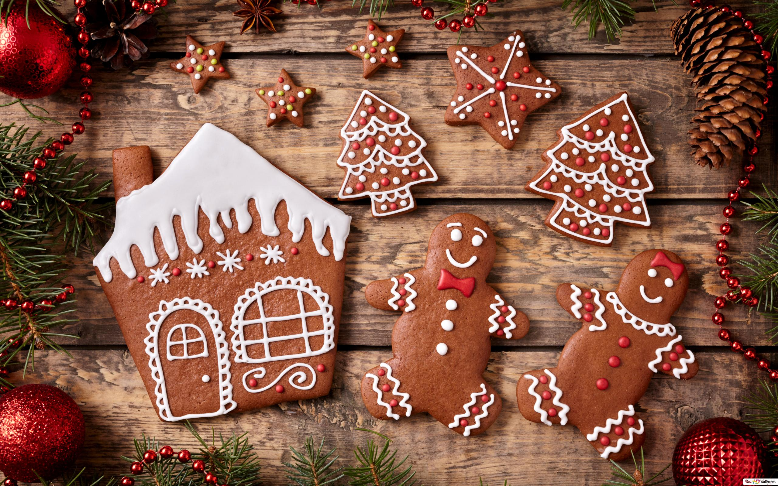 Gingerbread Family Hd Wallpaper Download