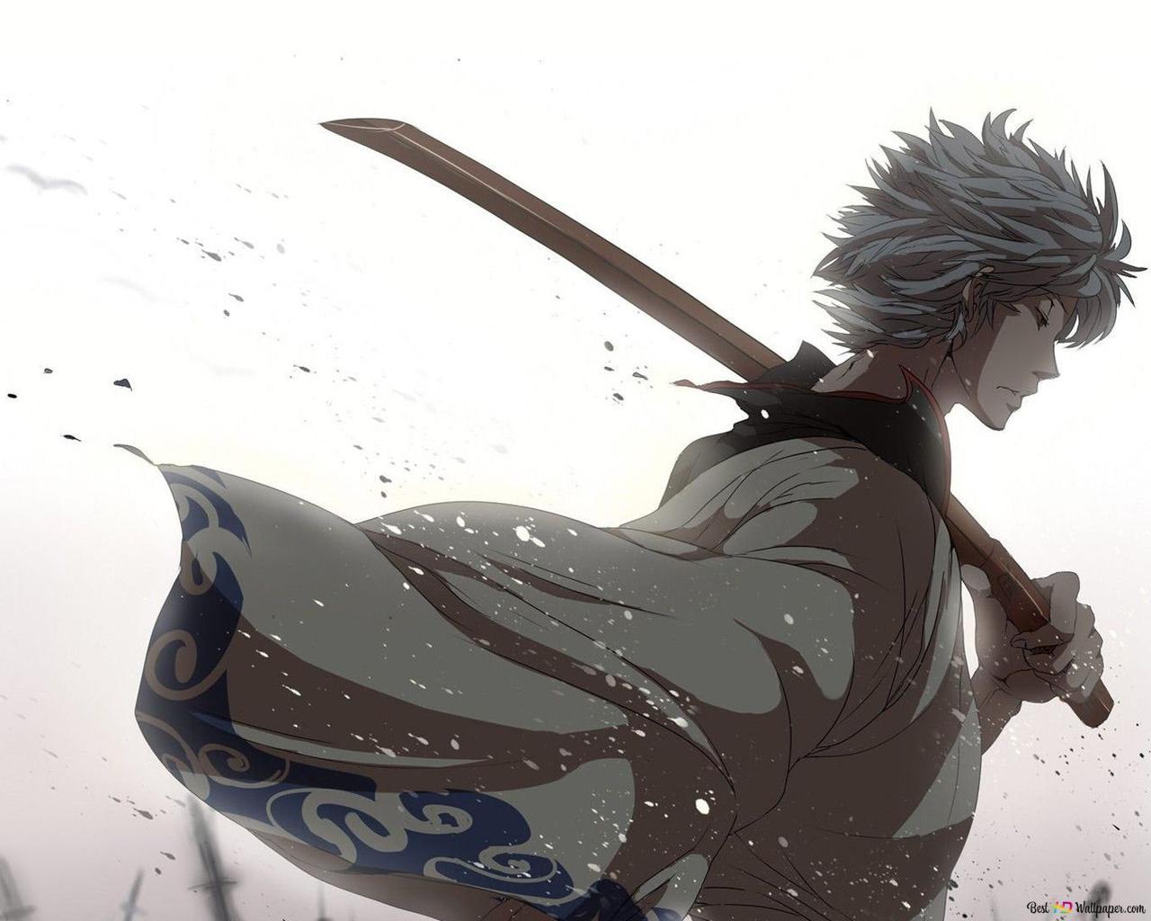 Descargar Fondo De Pantalla Gintama Samurai Hd