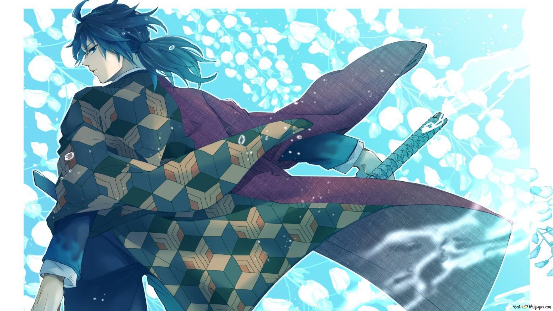 Giyuu Tomioka Kimetsu No Yaiba Hd Wallpaper Download