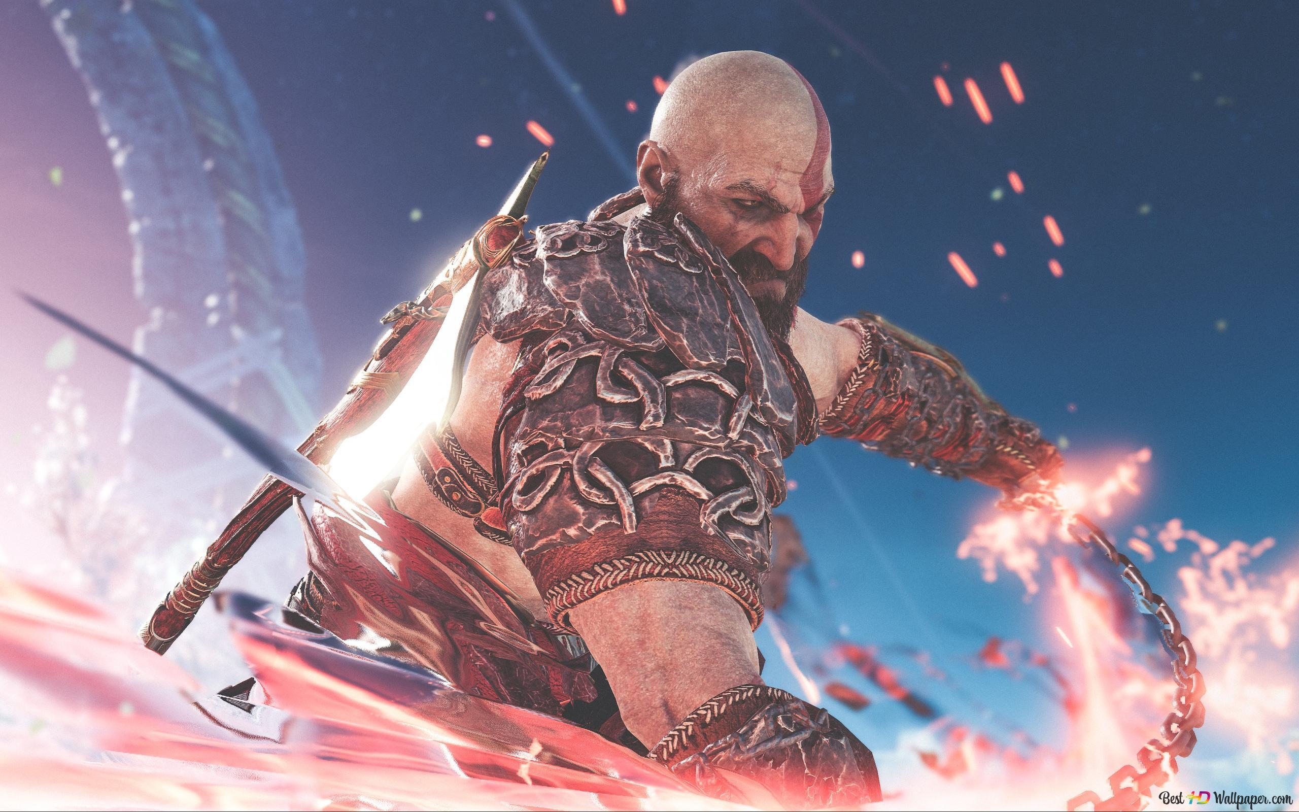 God Of War 4 Video Game Demigod Kratos Hd Wallpaper Download