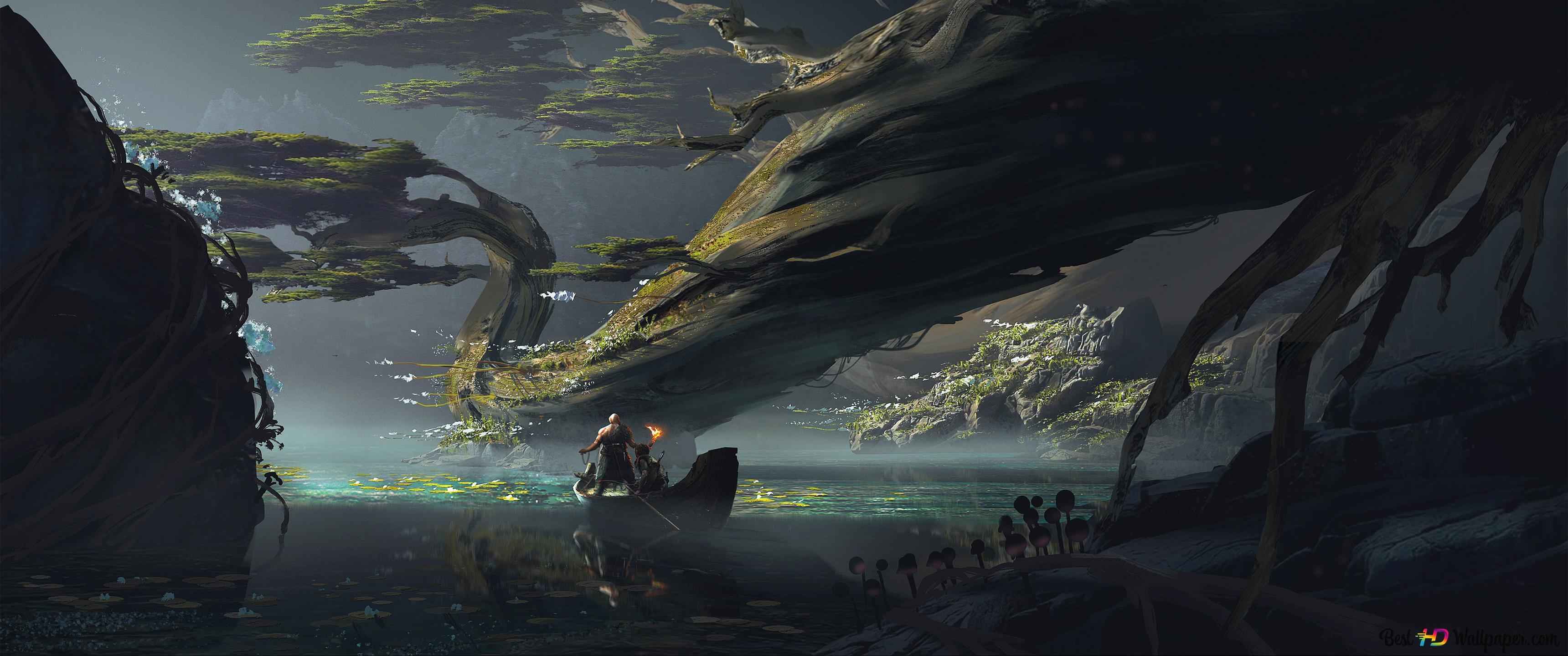 God Of War 4 Video Game Fantasy Art Hd Wallpaper Download