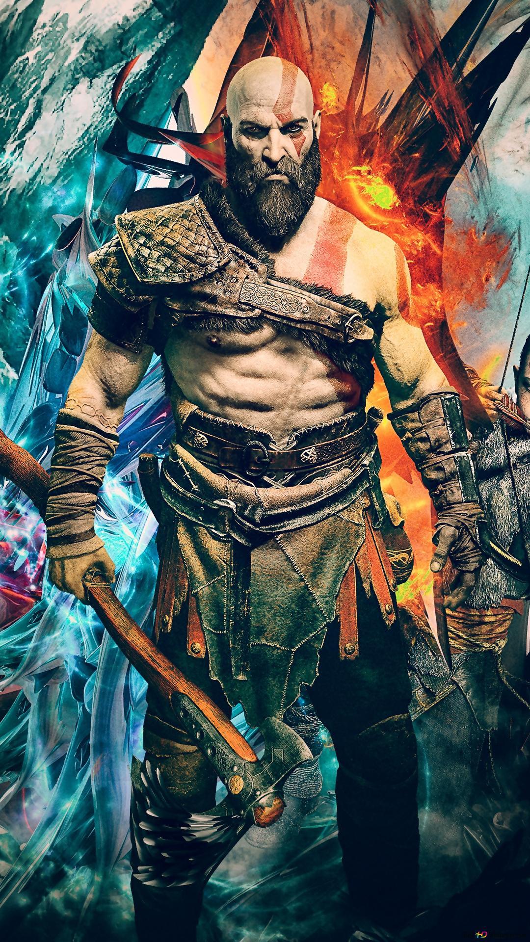 God Of War 4 Video Game Kratos And Atreus Hd Wallpaper