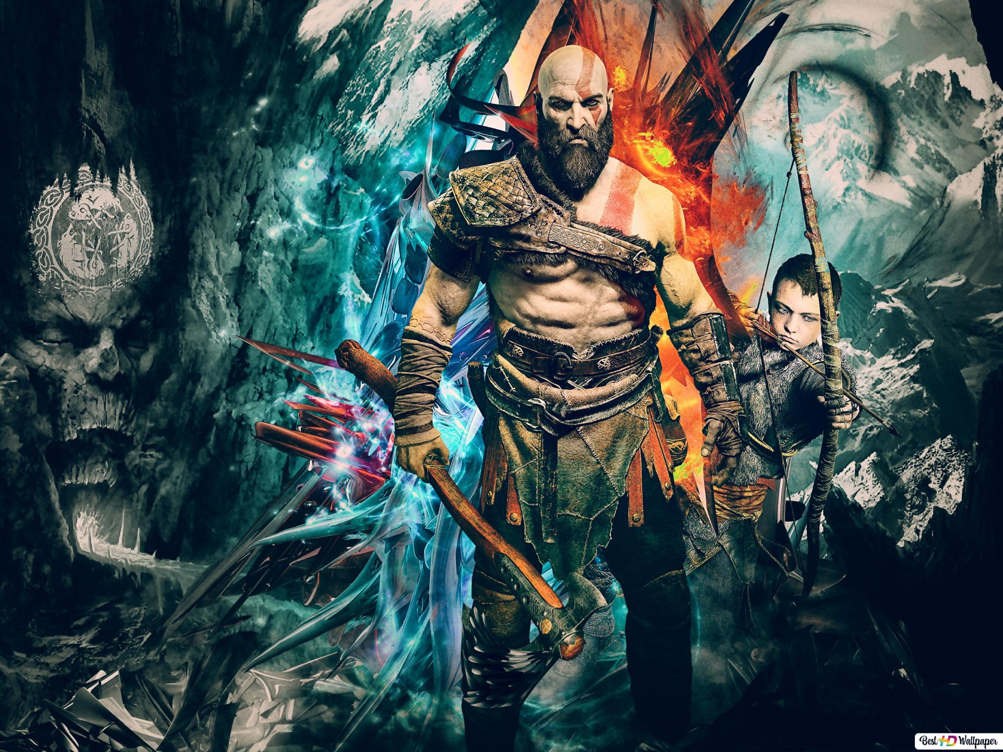 God Of War 4 Video Game Kratos And Atreus Hd Wallpaper
