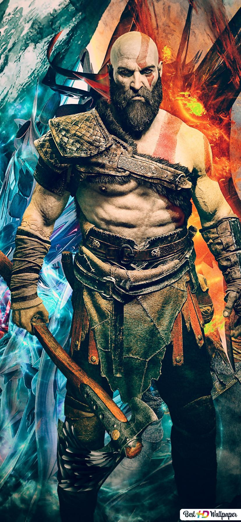 God Of War 4 Video Game Kratos And Atreus Hd Wallpaper Download
