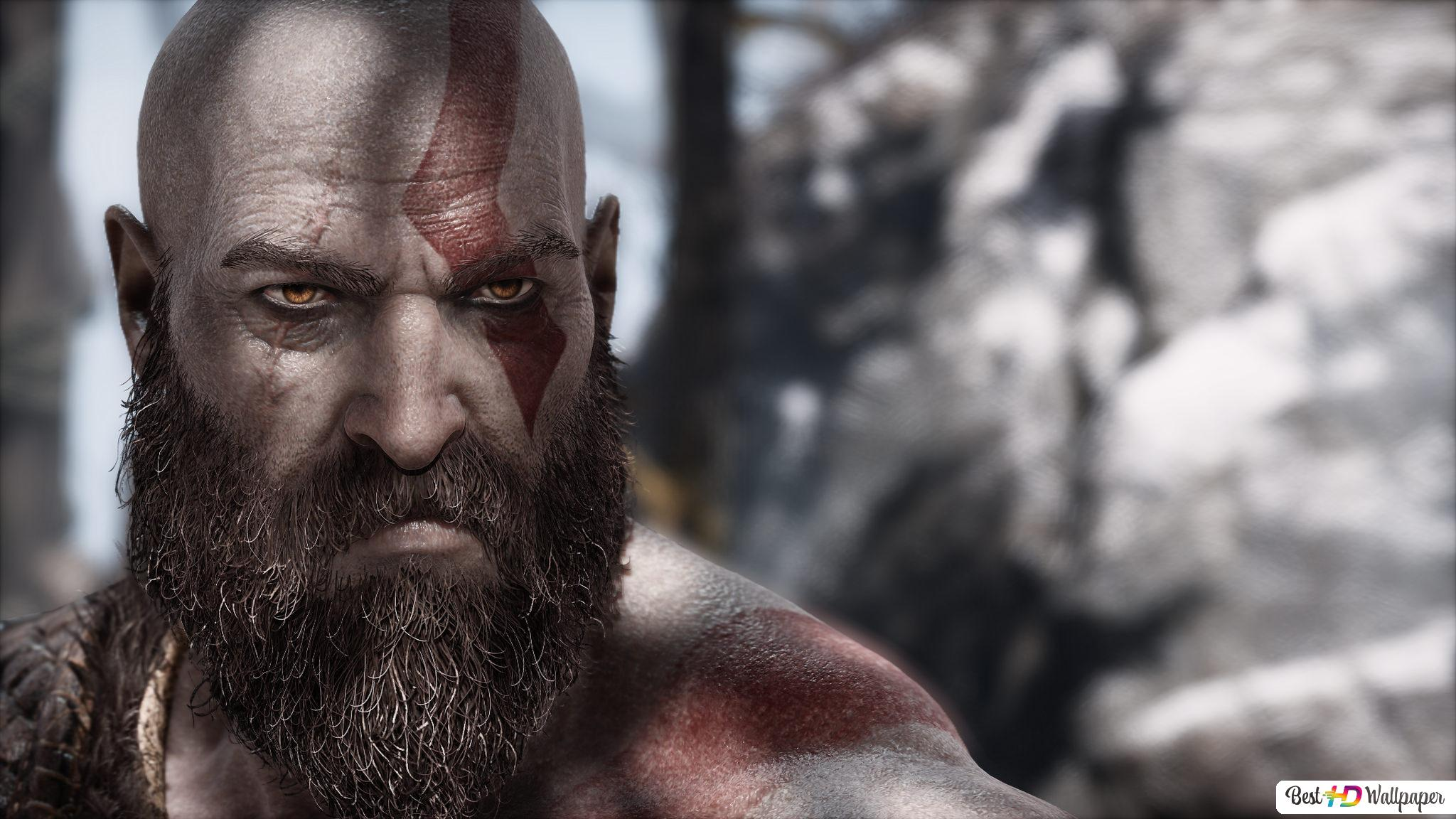 God Of War 4 Video Game Kratos Hd Wallpaper Download