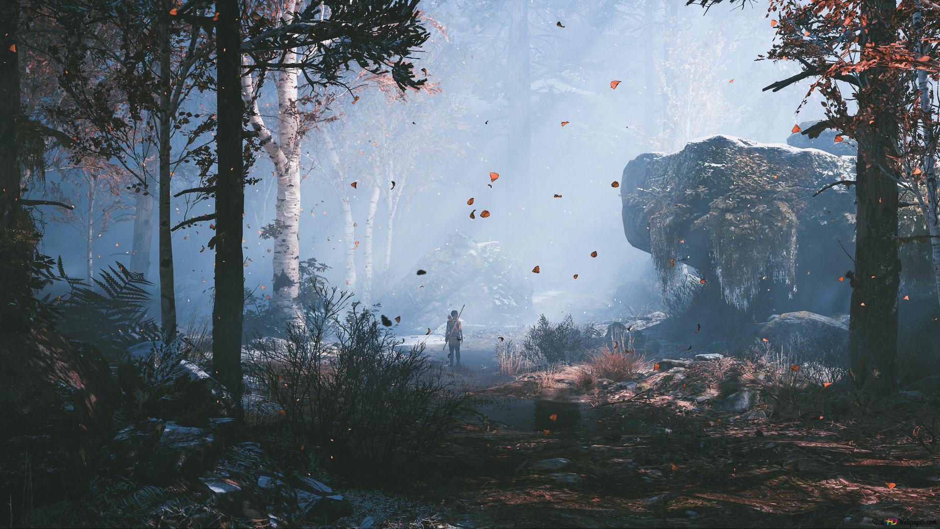 God Of War 4 Videospiel Atreus In Wald Hd