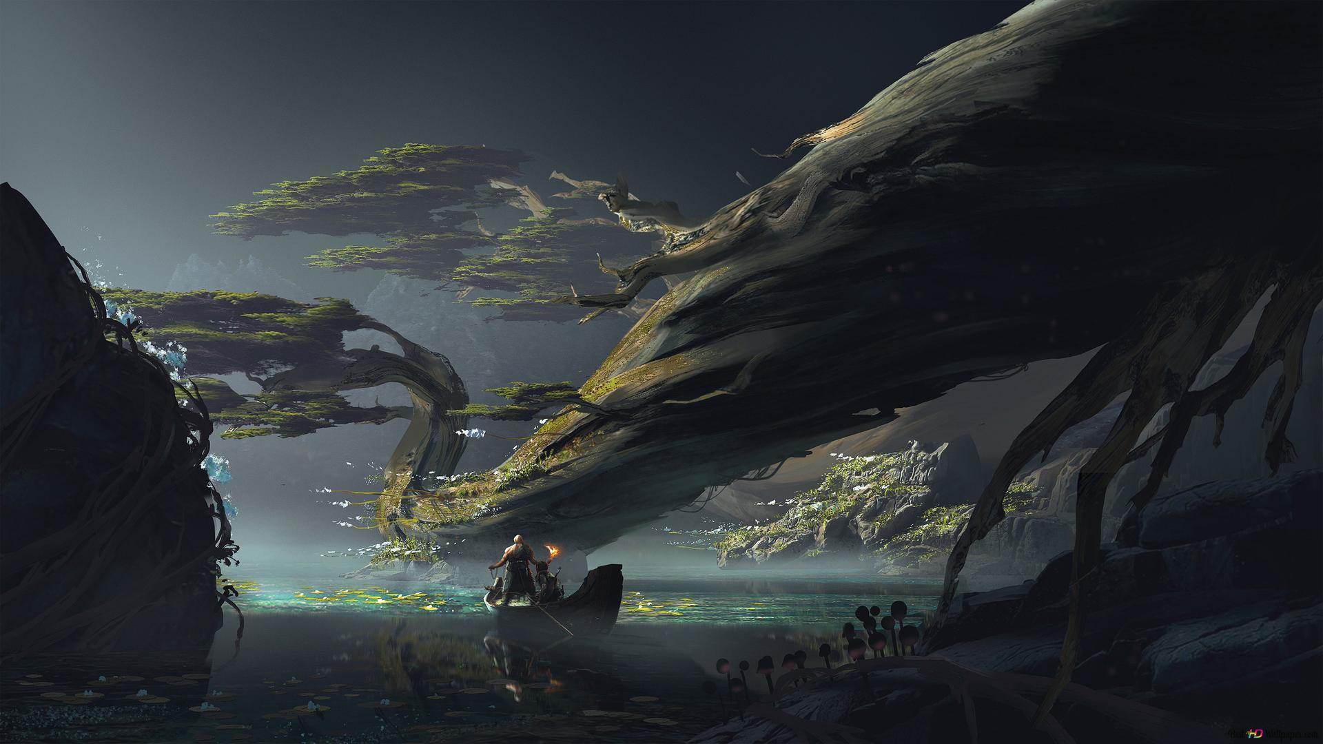 God Of War 4 Videospiel Fantasie Kunst Hd