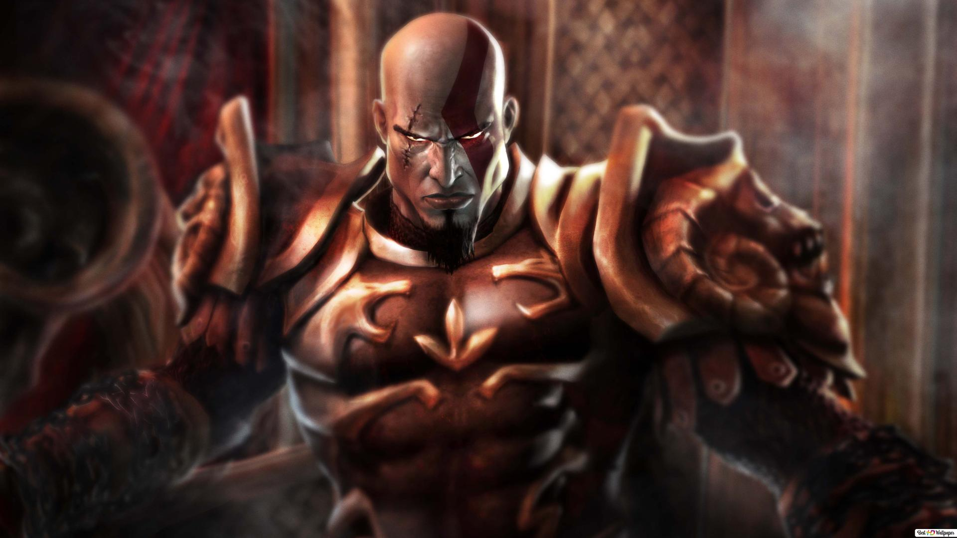 God Of War 4 Videospiel Kratos Rüstung Hd