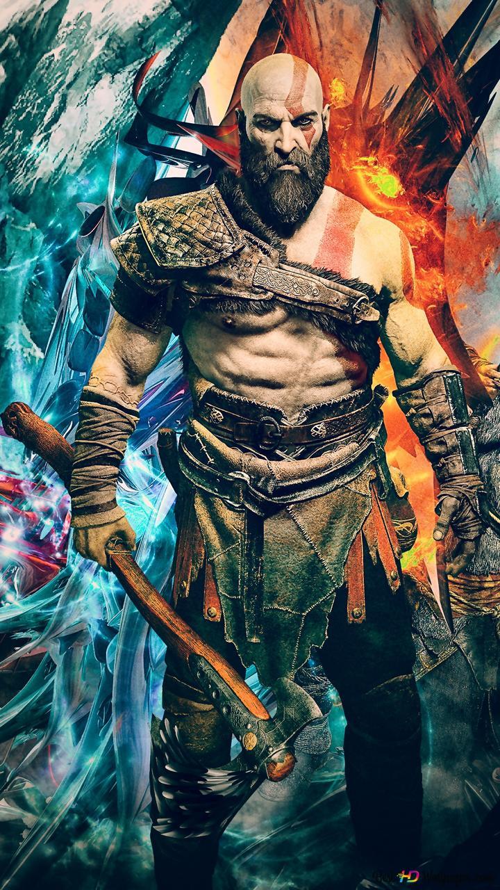 God Of War 4 Videospiel Kratos Und Atreus Hd