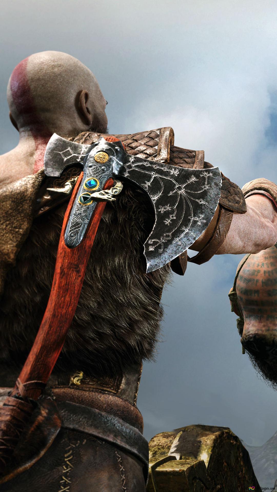 God Of War Kratos And Sea Serpent Hd Wallpaper Download