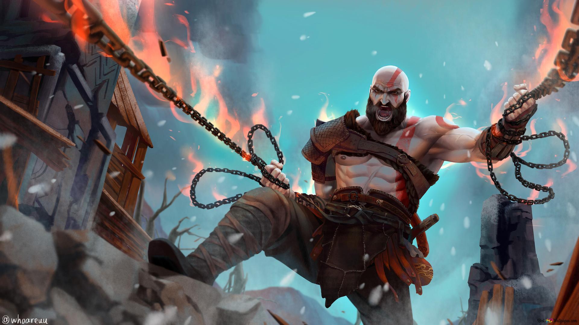 Descargar Fondo De Pantalla God Of War Kratos Fanart