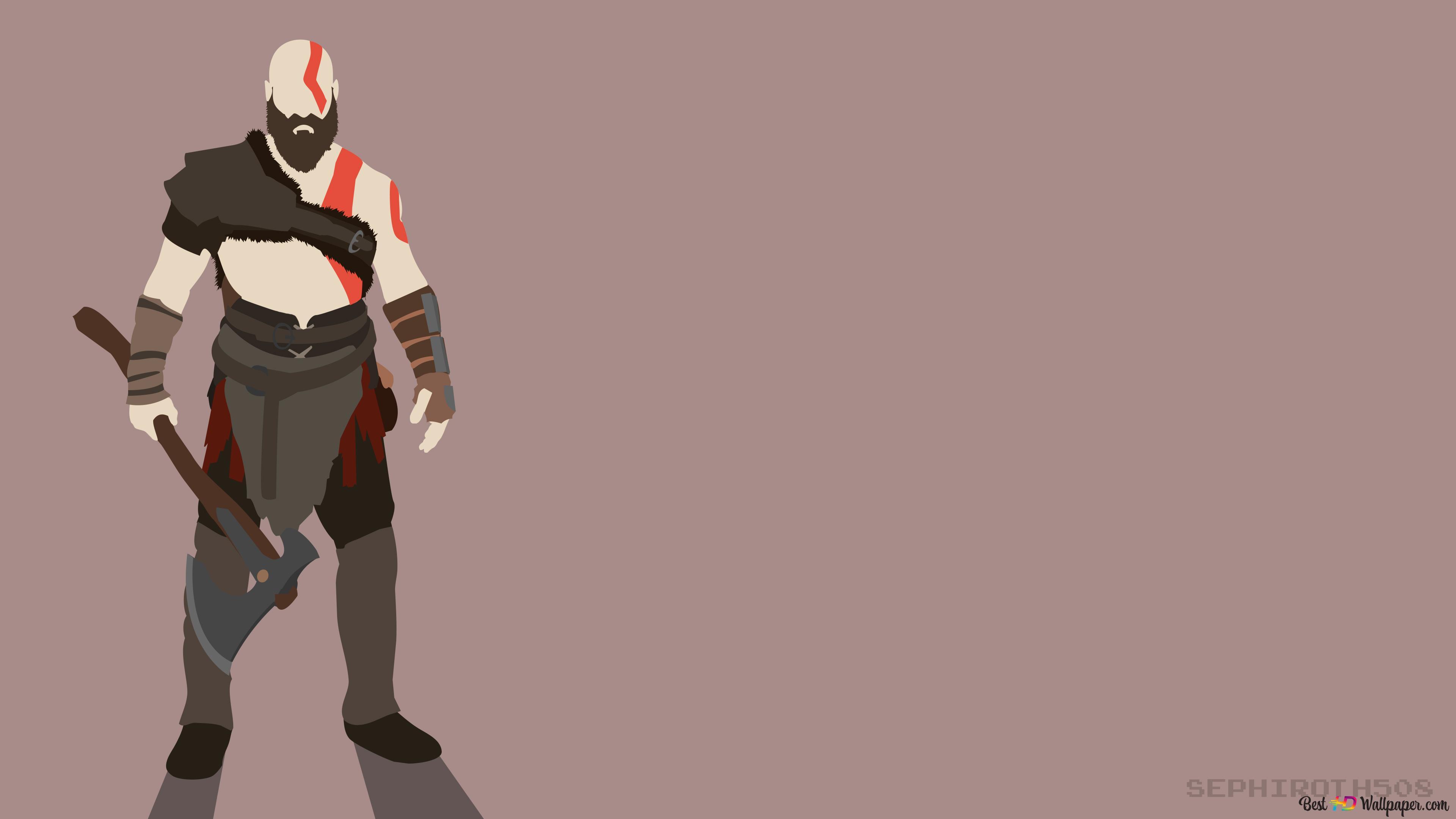 God Of War Video Game Kratos Minimalist Hd Wallpaper Download
