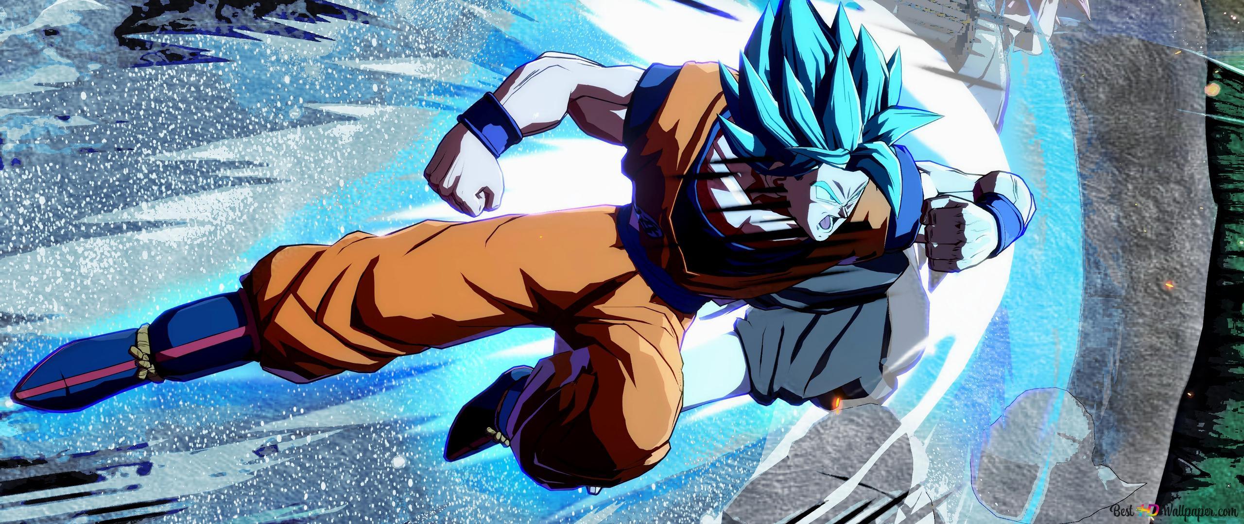 Descargar Fondo De Pantalla Goku Azul Super Saiyan Hd