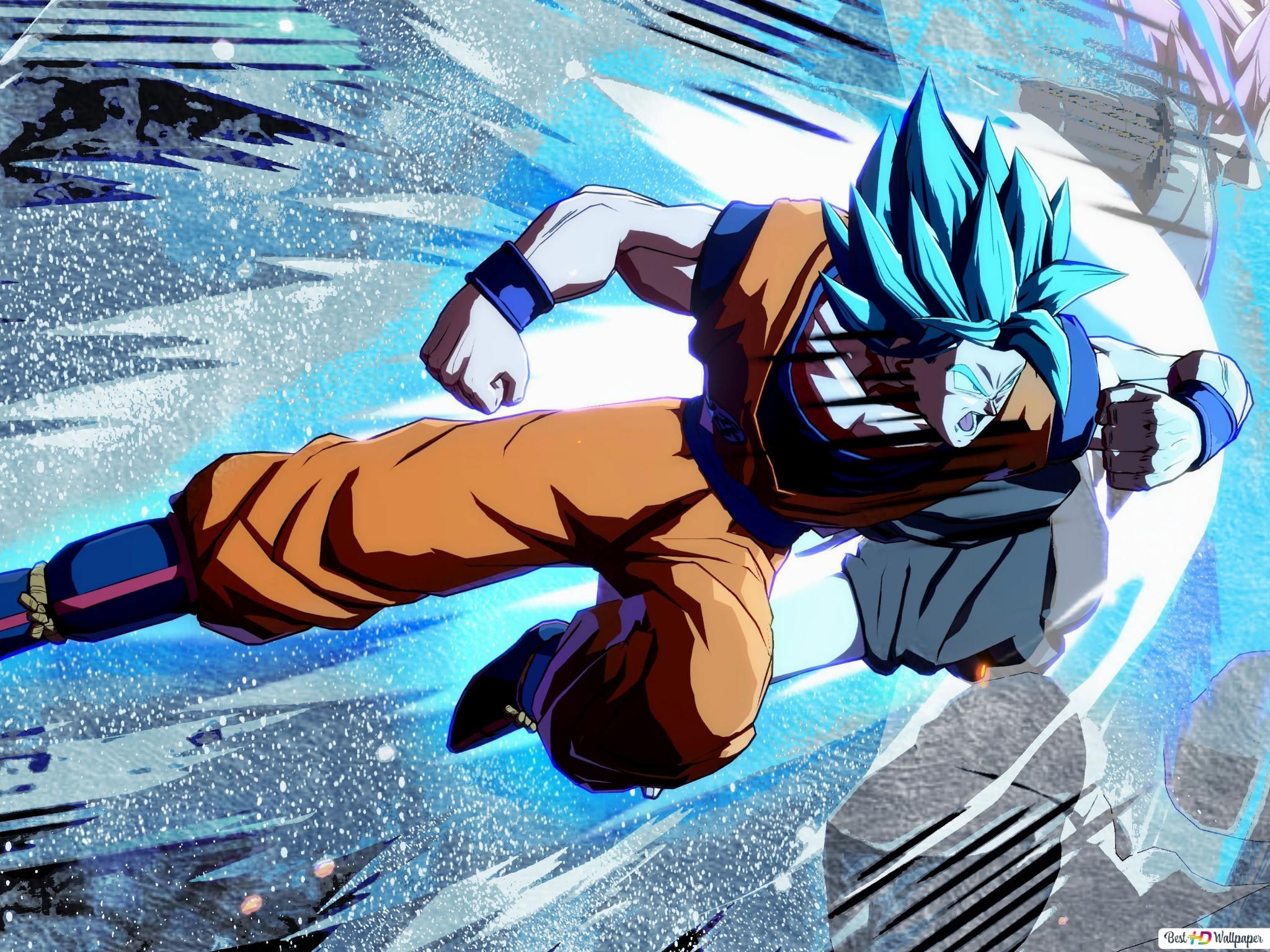 Goku Super Bleu Saiyan Hd Fond D Ecran Telecharger