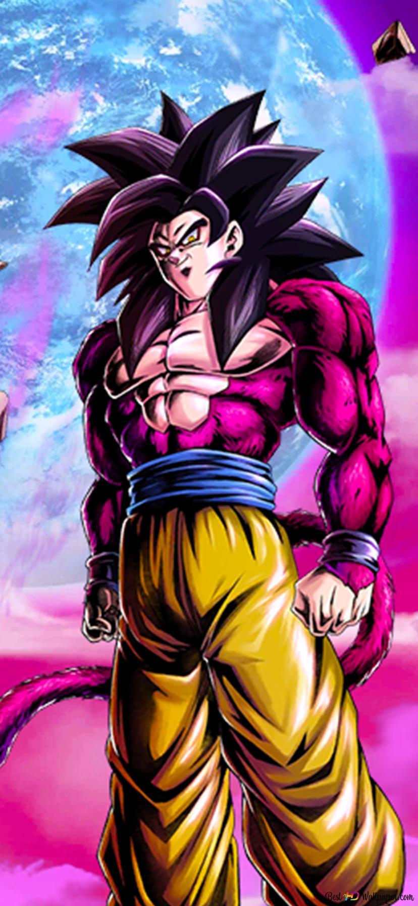 Goku Super Saiyan 4 From Dragon Ball Gt Dragon Ball Legends Arts For Desktop Hd Wallpaper Download