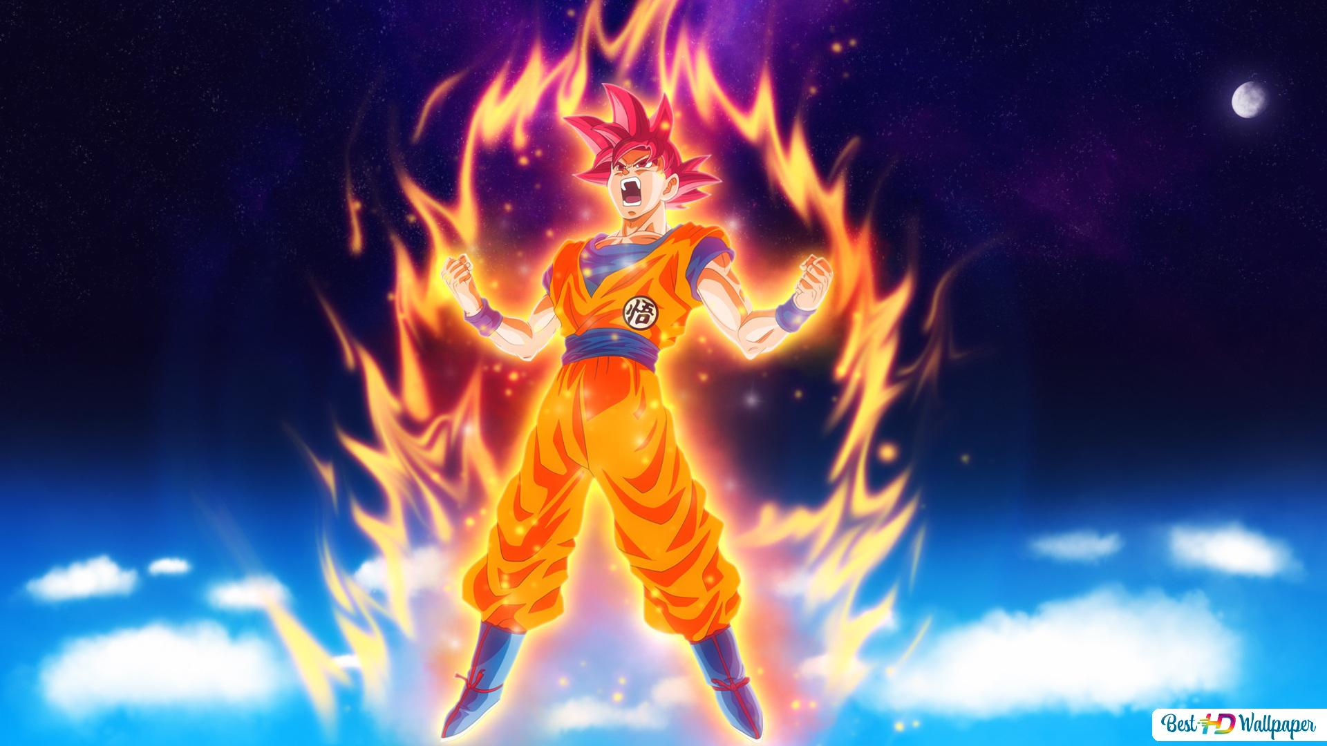 Goku Super Saiyan God Hd Wallpaper Download