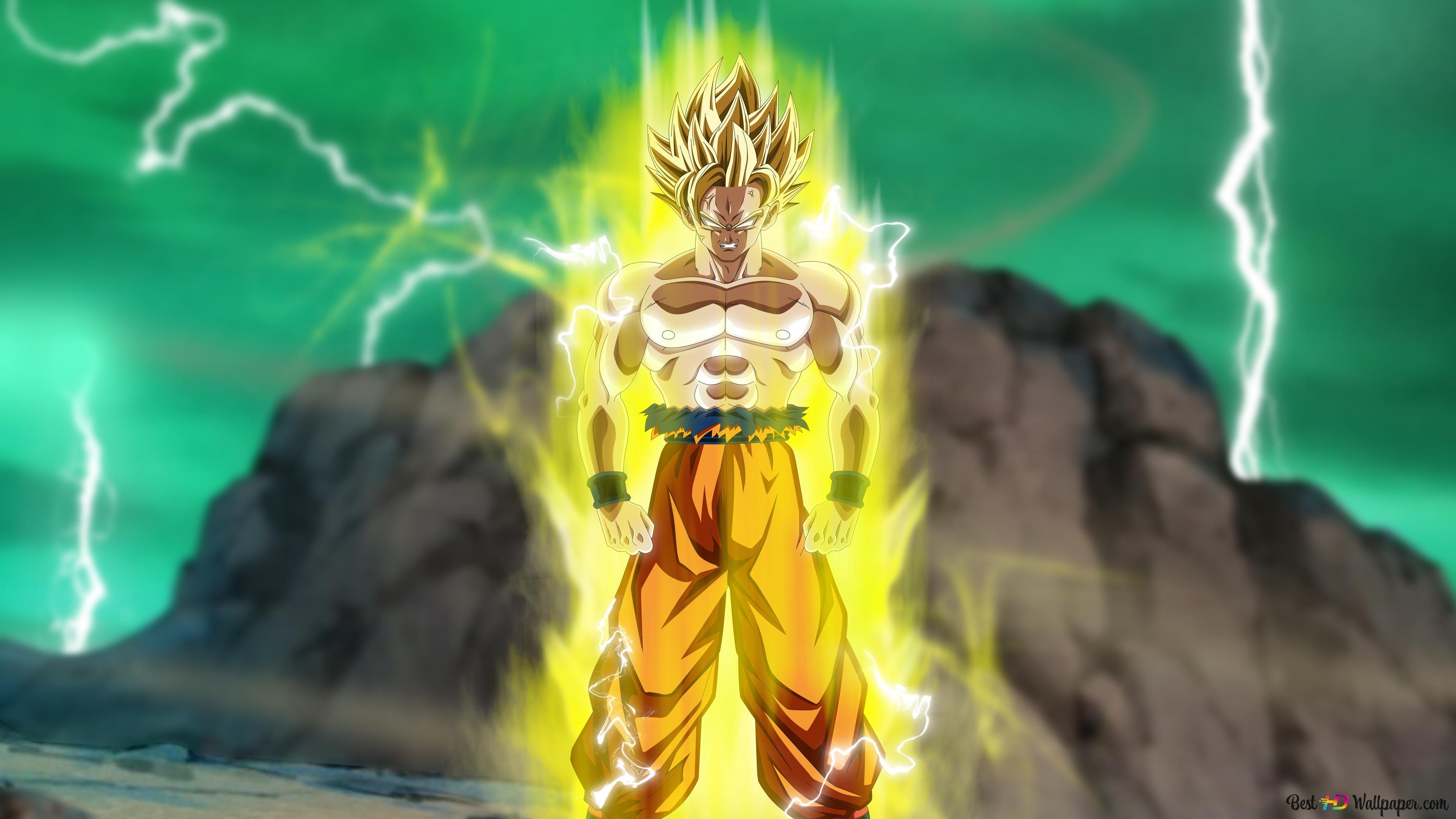 Goku Transform To Super Saiyan 2 Namek Saga Hd Wallpaper Download