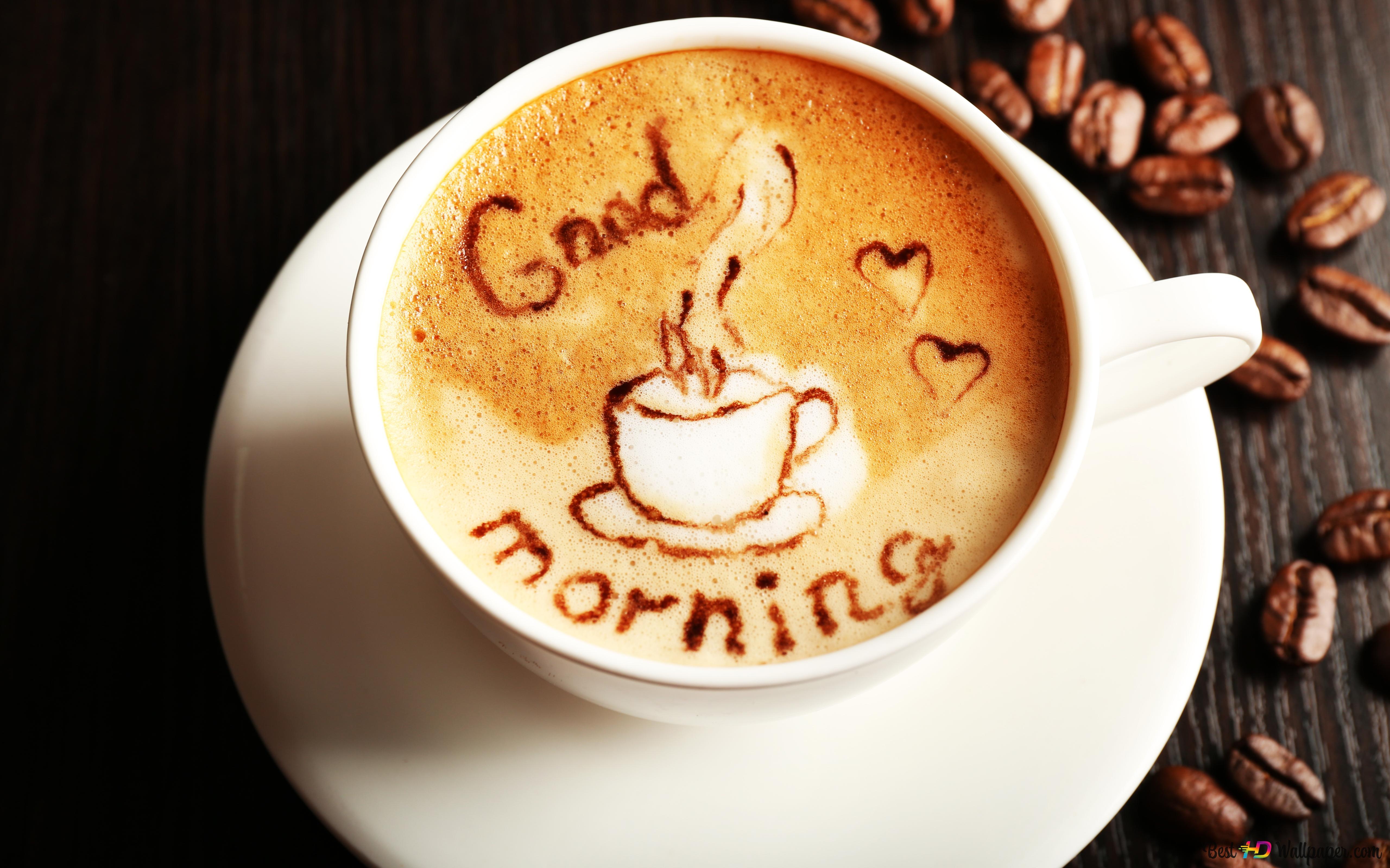 Good Morning Coffee Hd Wallpaper Download