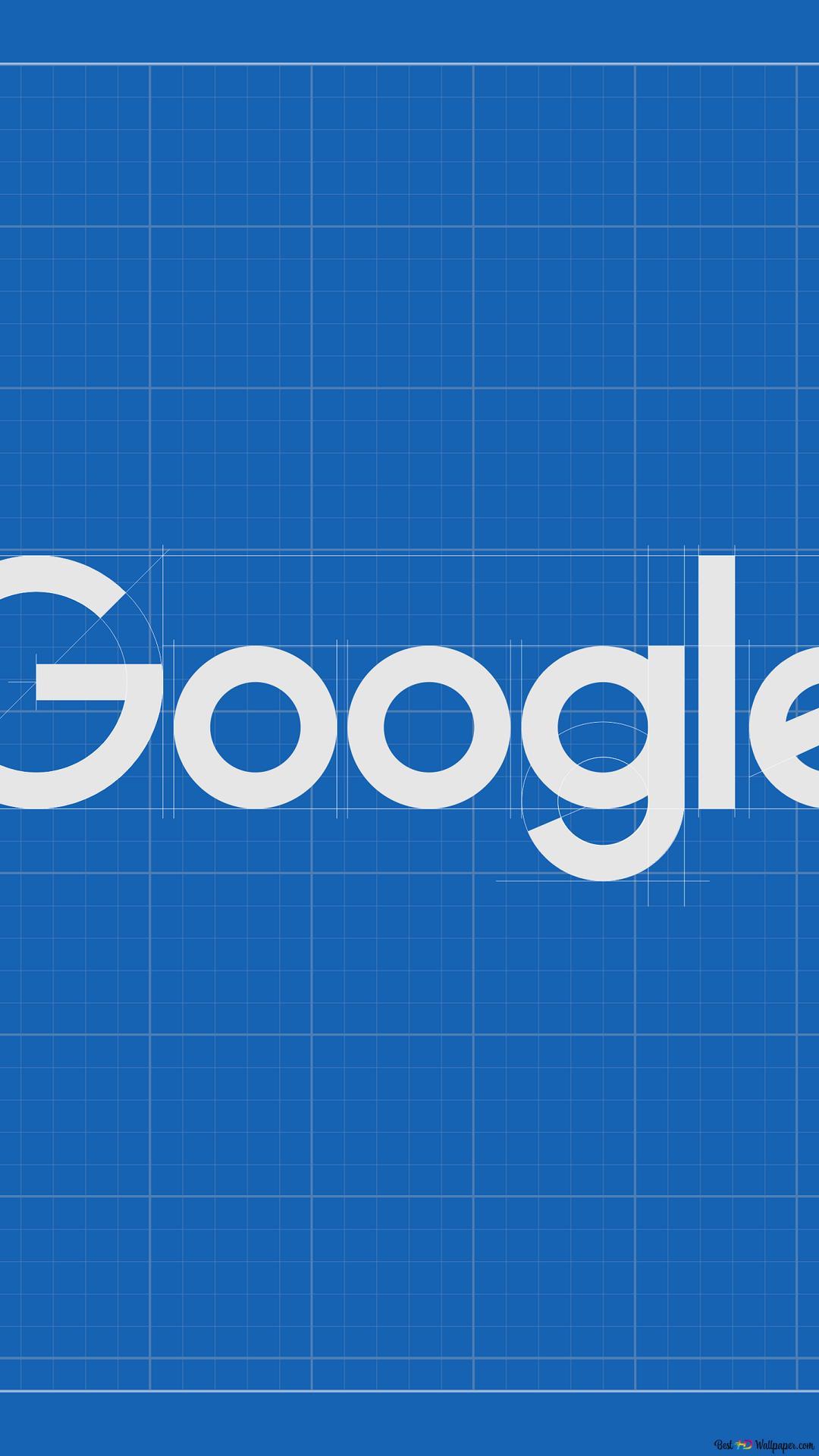 Googleのロゴ青写真 Hd壁紙のダウンロード