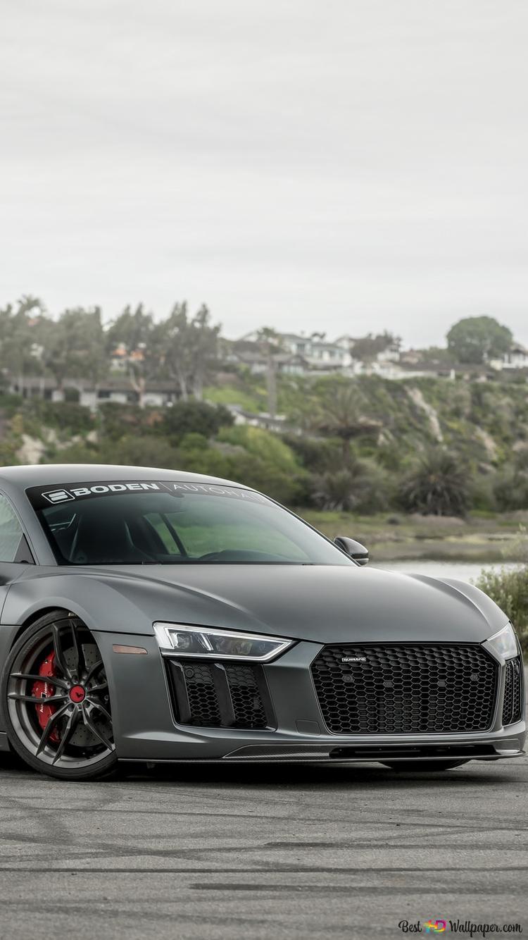 Gray Audi R8 Sport Car Hd Wallpaper Download