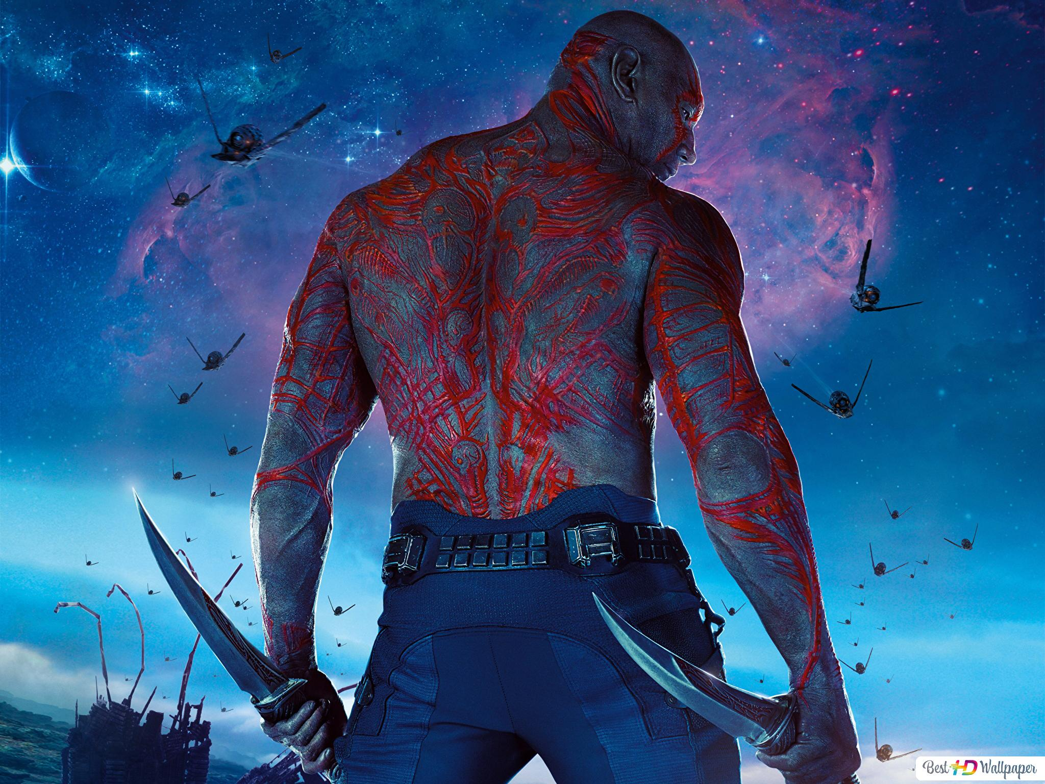 Guardians Of The Galaxy Drax The Destroyer Hd Wallpaper Download